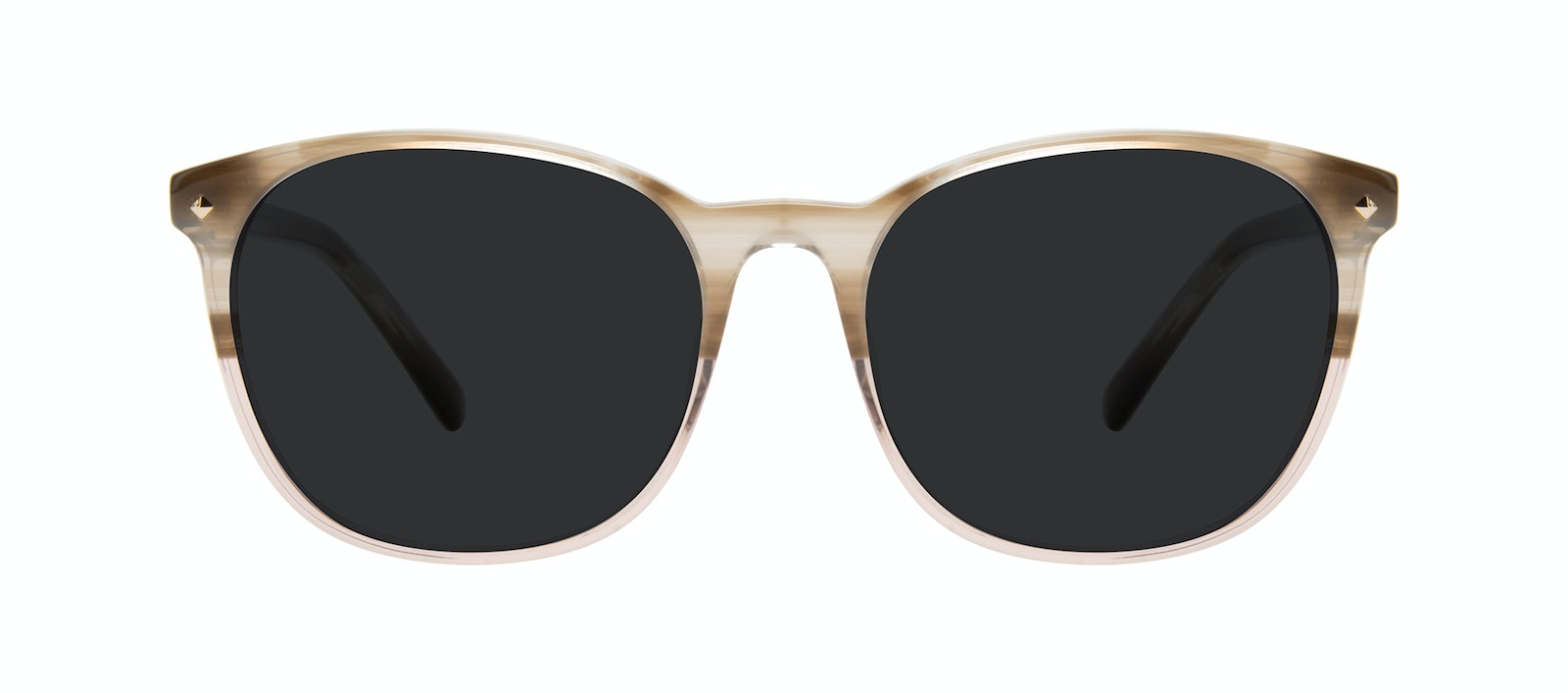 Affordable Fashion Glasses Round Sunglasses Women Revive Rosewood Front