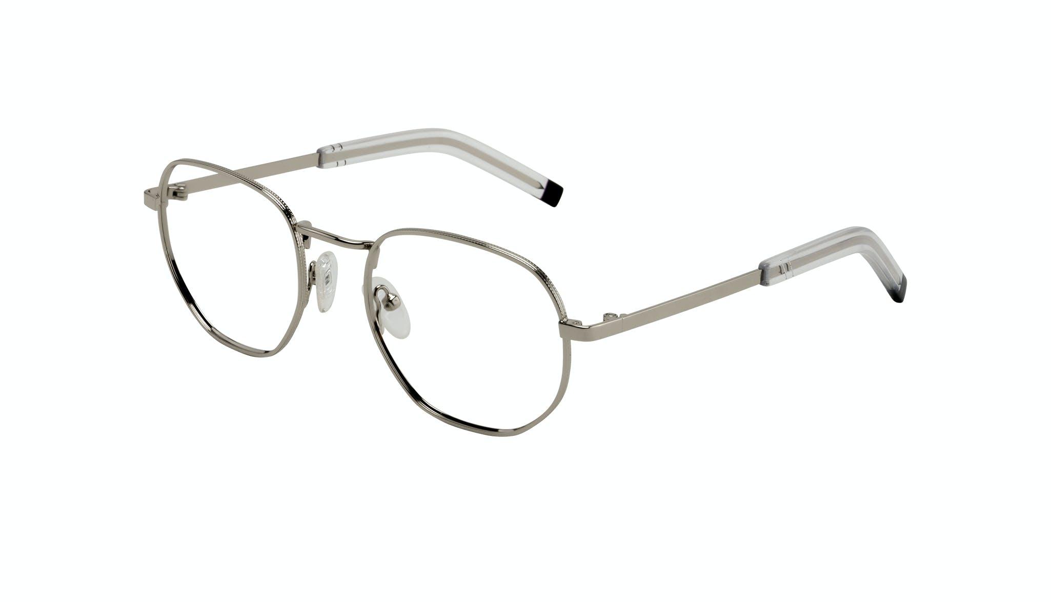 Affordable Fashion Glasses Round Eyeglasses Men Rise Silver Tilt