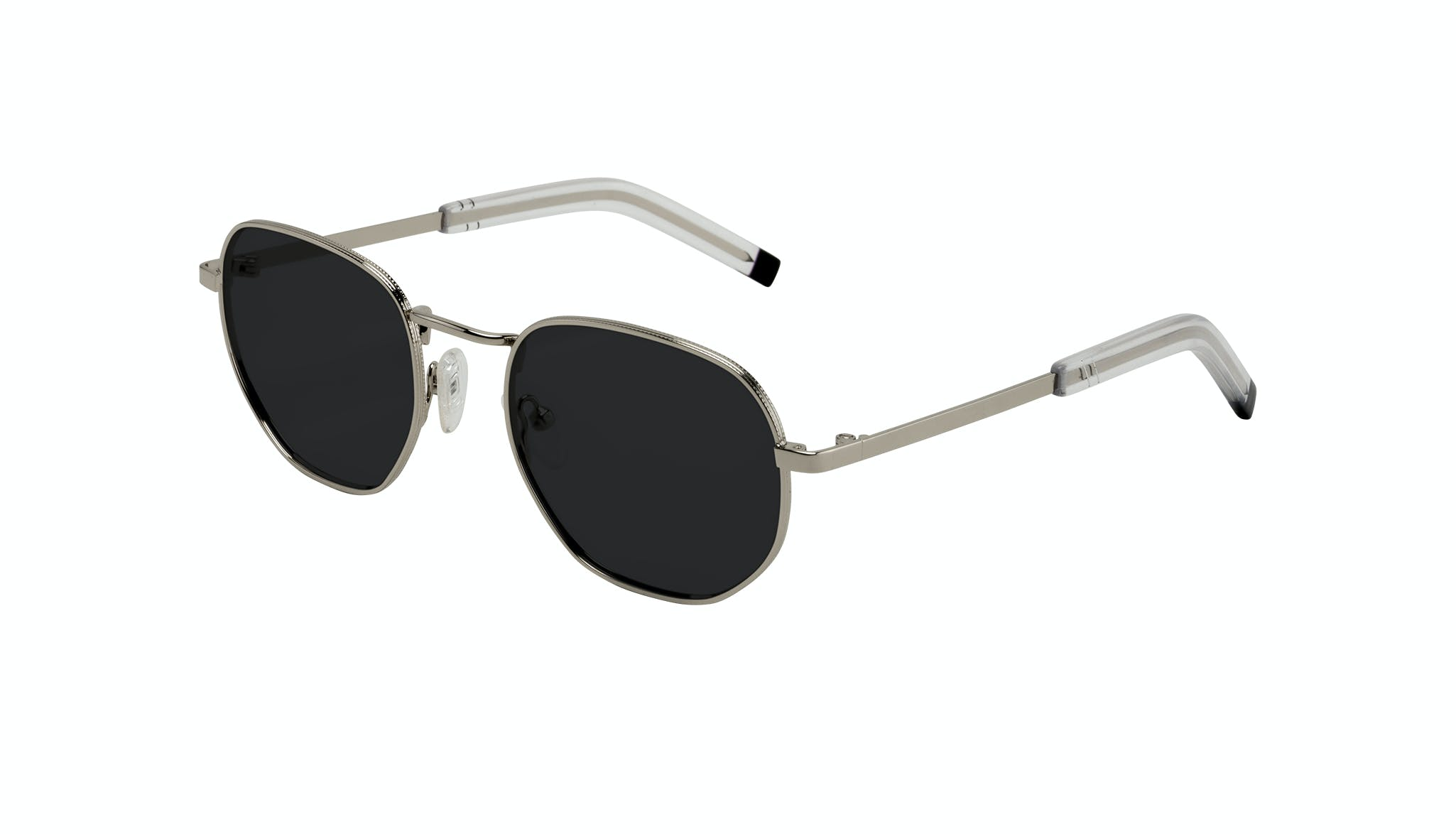 Affordable Fashion Glasses Round Sunglasses Men Rise Silver Tilt