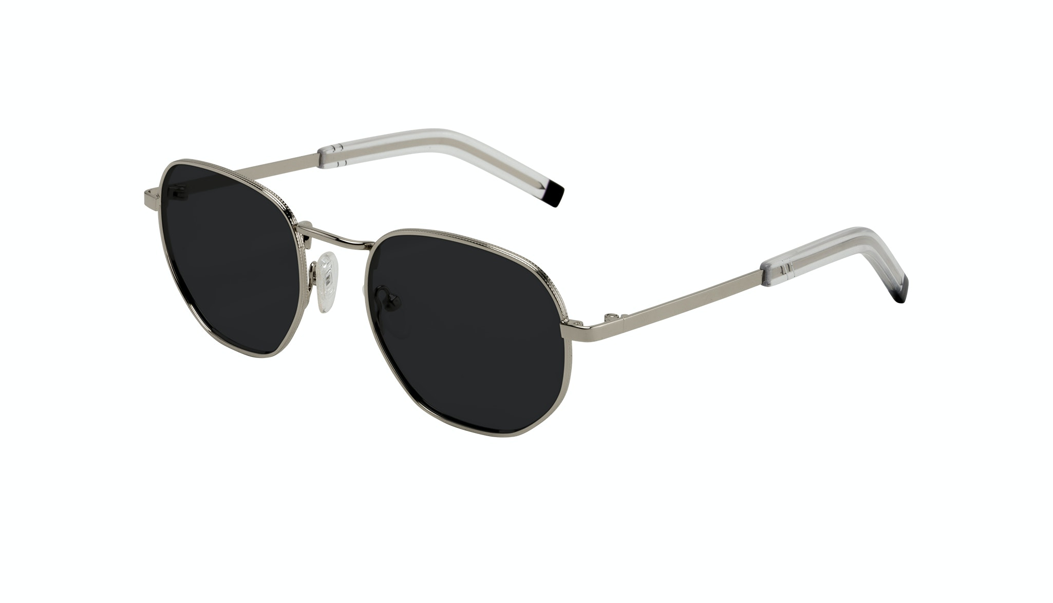 Affordable Fashion Glasses Round Sunglasses Men Rise Silver Tilt