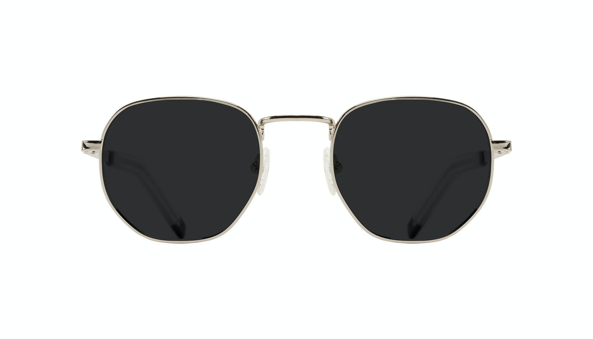 Affordable Fashion Glasses Round Sunglasses Men Rise Silver
