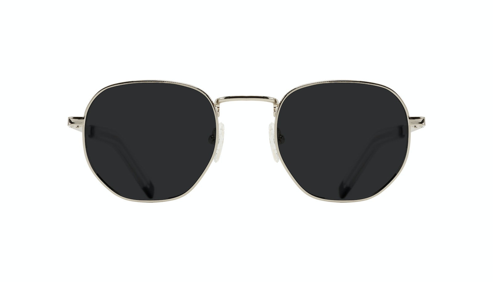 Affordable Fashion Glasses Round Sunglasses Men Rise Silver