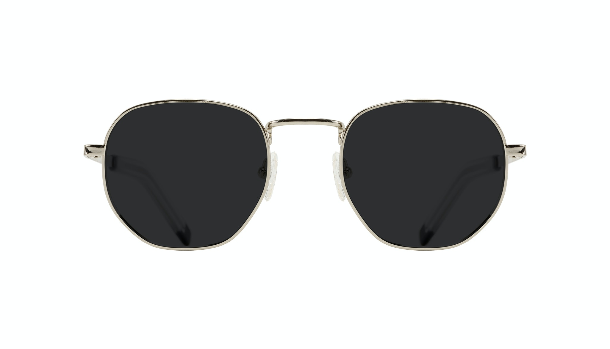 Affordable Fashion Glasses Round Sunglasses Men Rise Silver Front