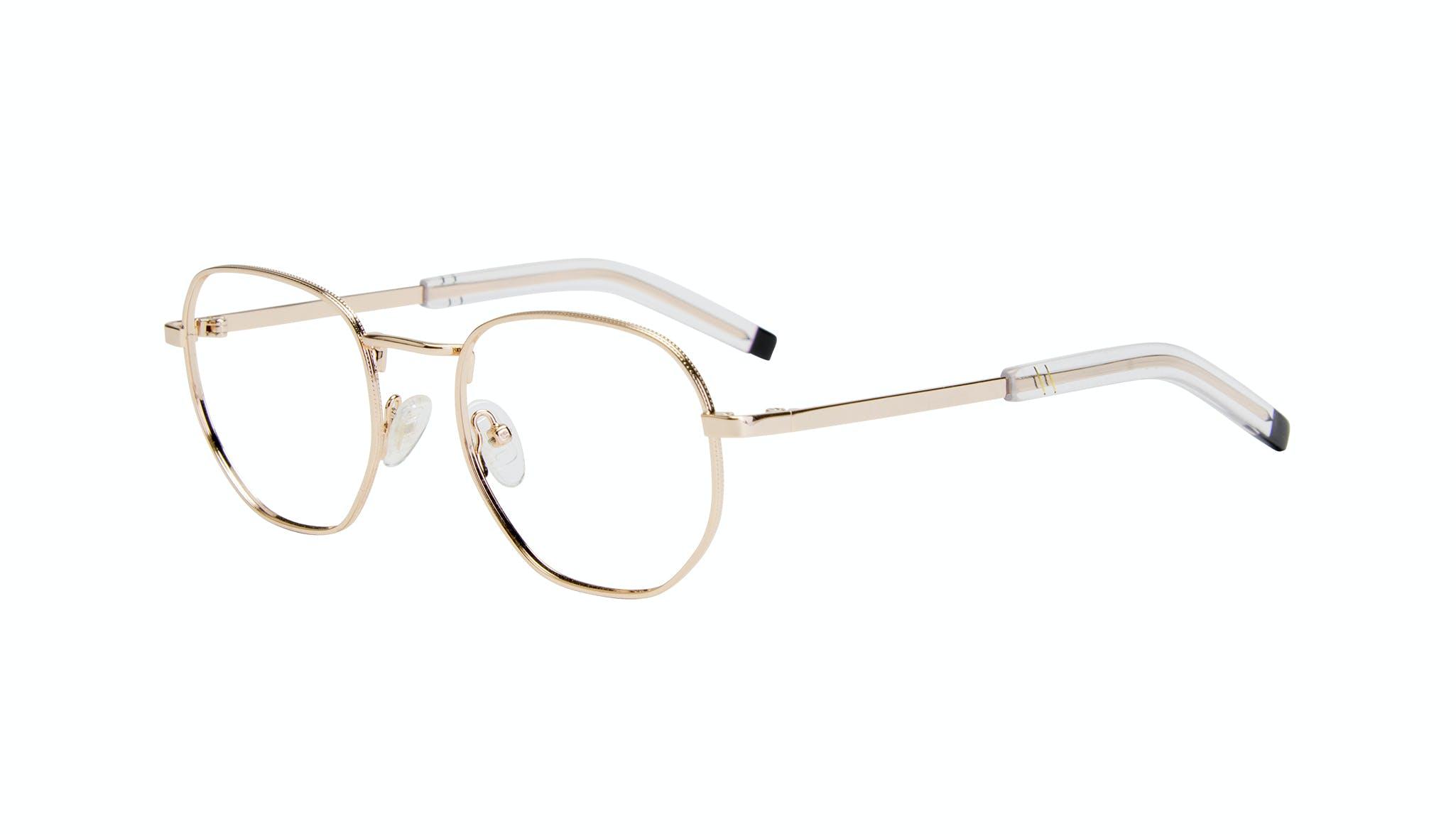Affordable Fashion Glasses Round Eyeglasses Men Rise Gold Tilt