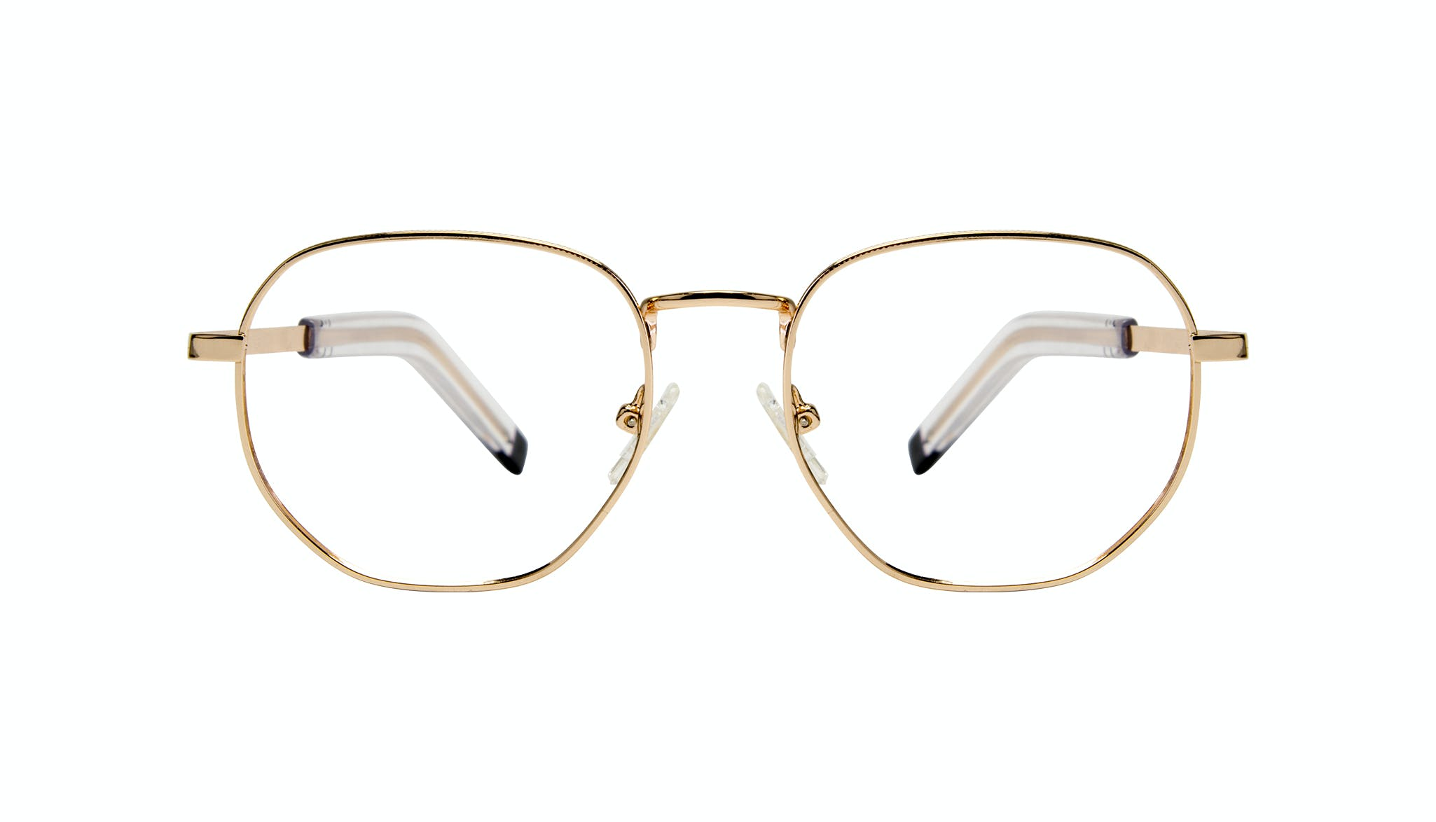 Affordable Fashion Glasses Round Eyeglasses Men Rise Gold Front