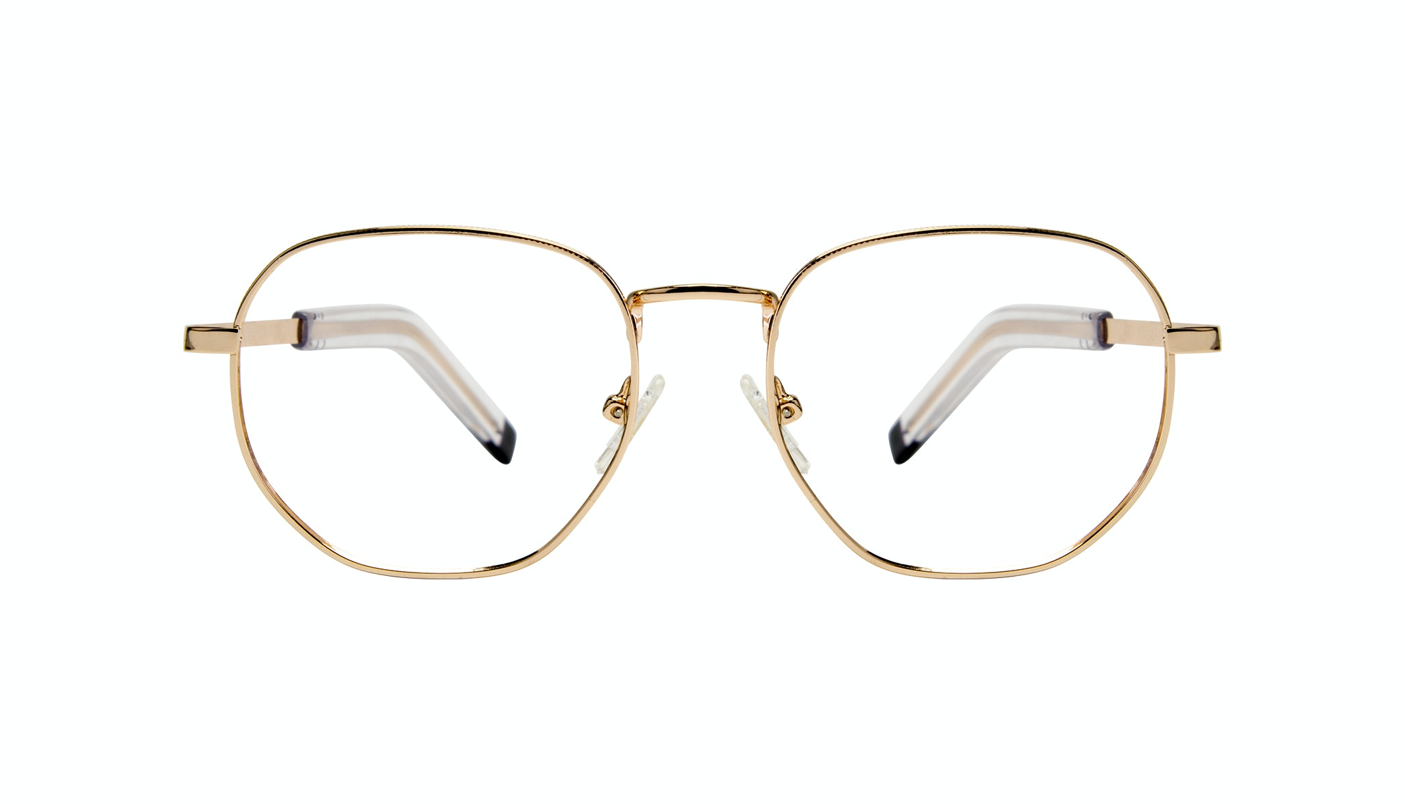 Affordable Fashion Glasses Round Eyeglasses Men Rise Gold Front