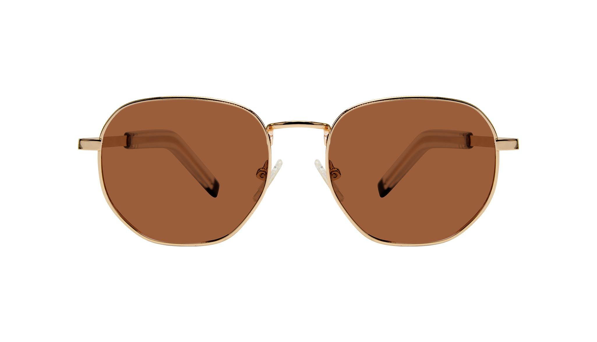 Affordable Fashion Glasses Round Sunglasses Men Rise Gold