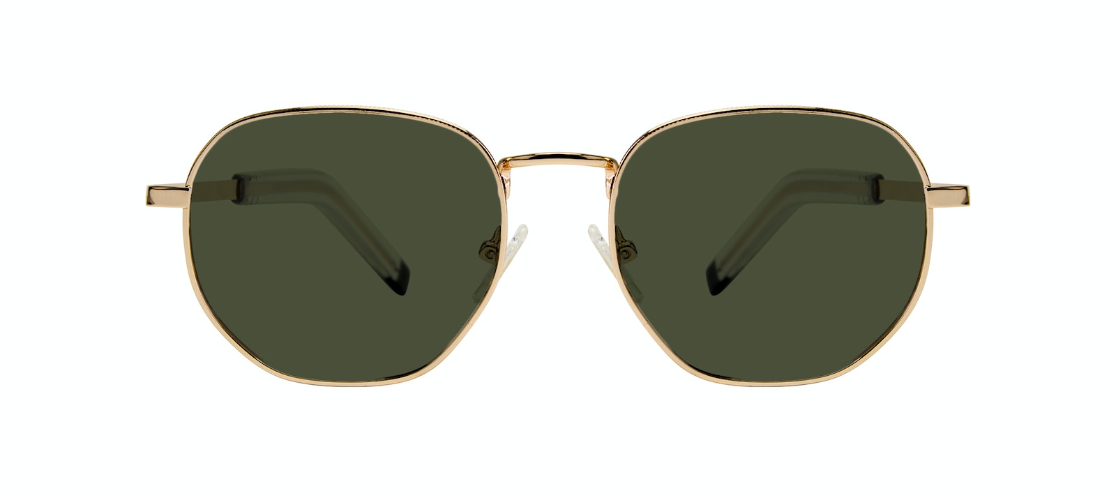 Affordable Fashion Glasses Round Sunglasses Men Rise Gold Front