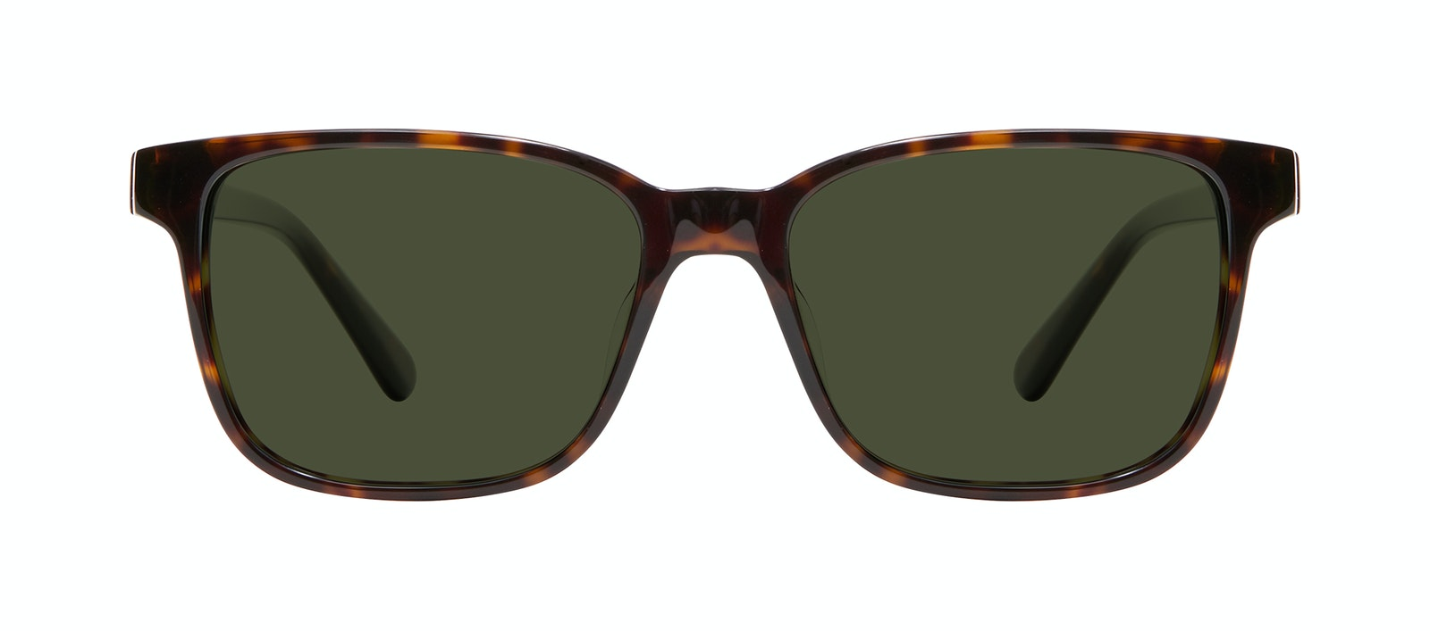 Affordable Fashion Glasses Square Sunglasses Men Risk Tortoise Front
