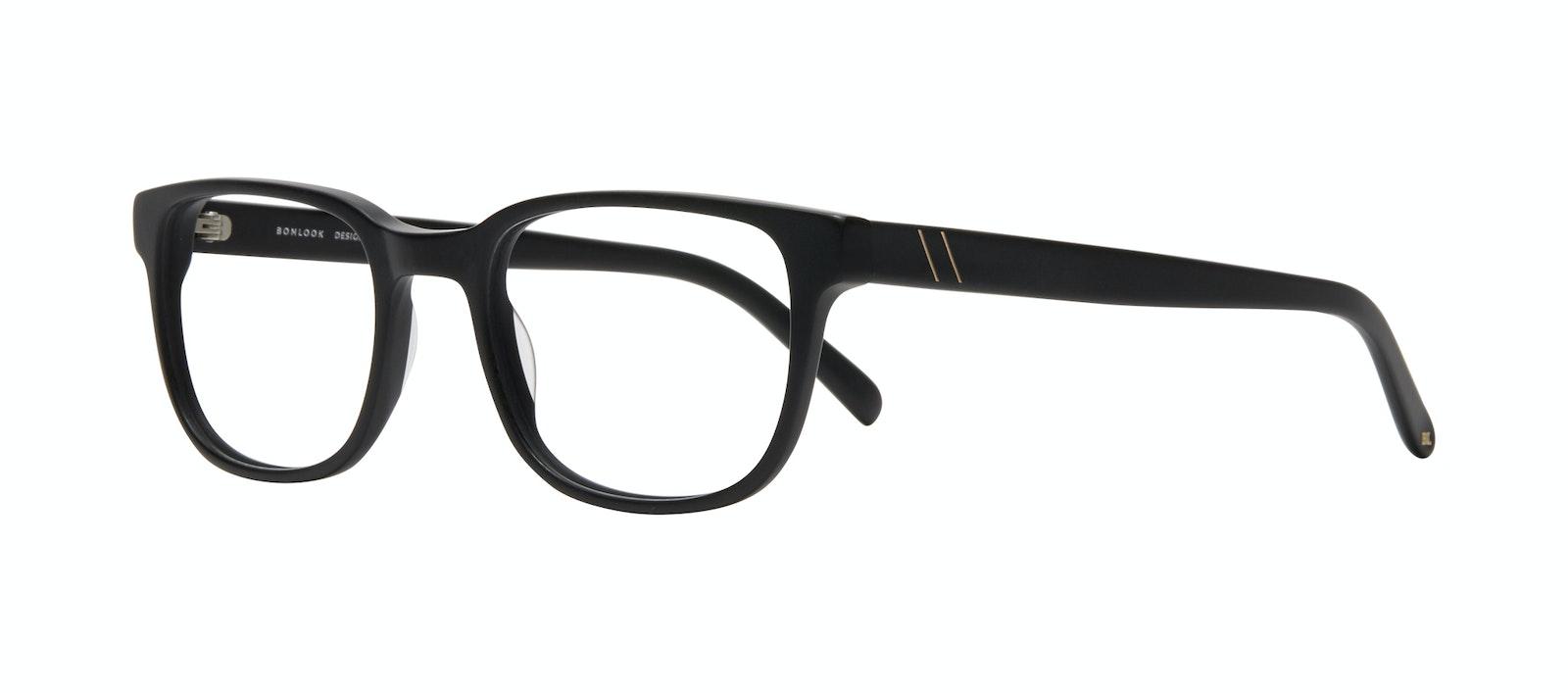 Affordable Fashion Glasses Square Eyeglasses Men Role Black Matte Tilt