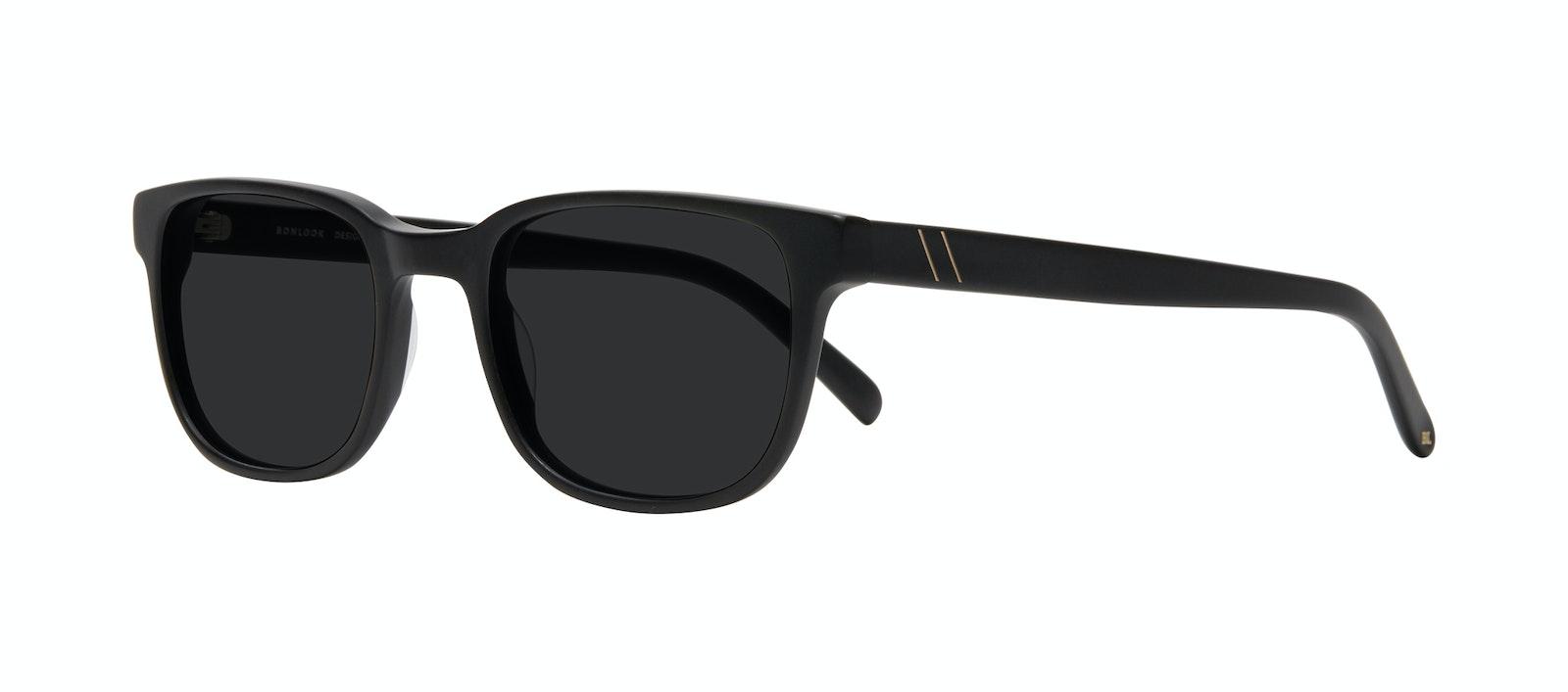 Affordable Fashion Glasses Square Sunglasses Men Role Black Matte Tilt