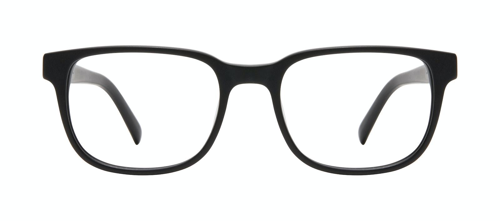 Affordable Fashion Glasses Square Eyeglasses Men Role Black Matte Front