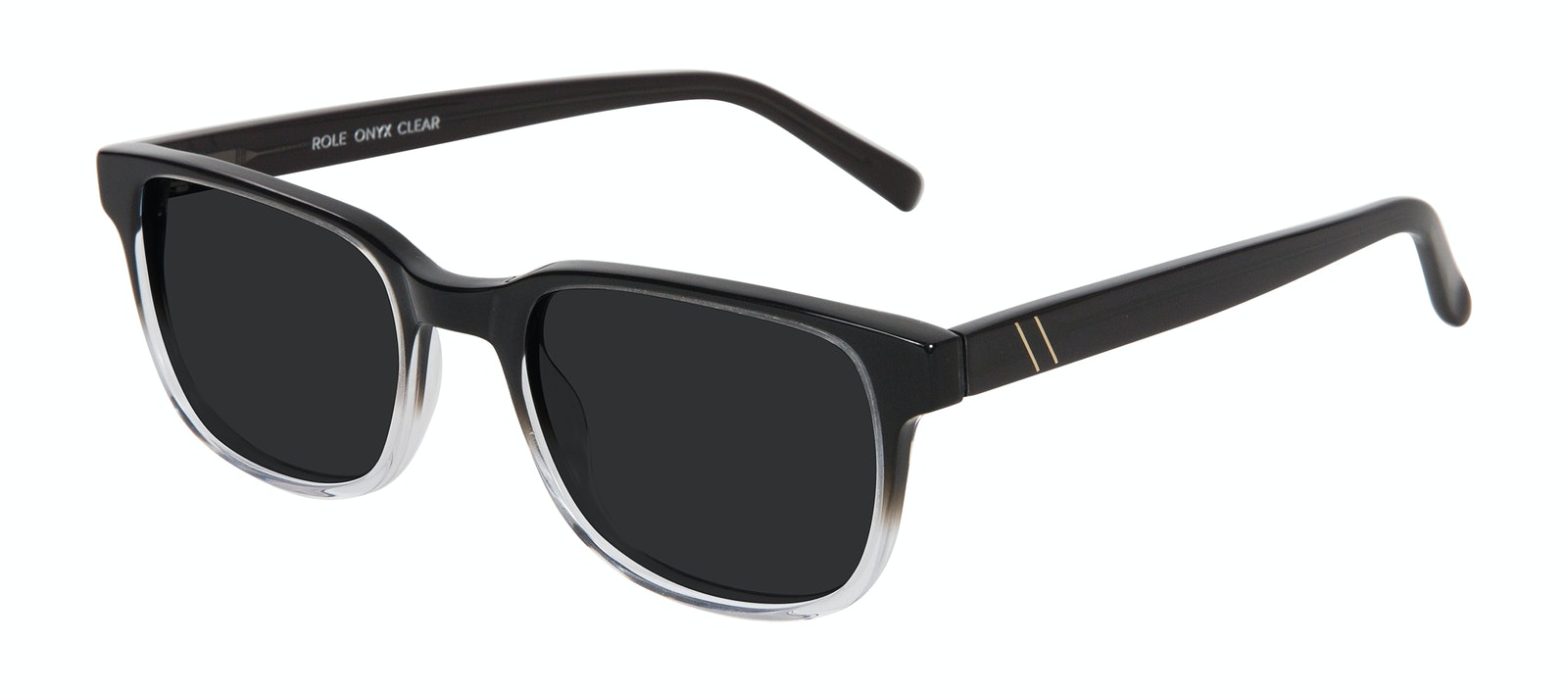 Affordable Fashion Glasses Square Sunglasses Men Role Onyx Clear Tilt
