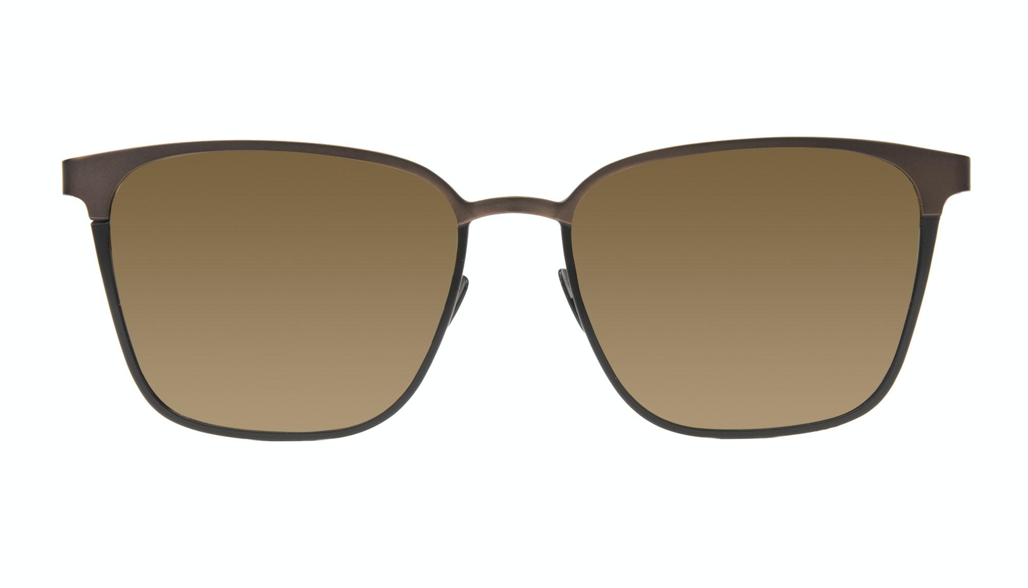 Affordable Fashion Glasses Rectangle Sunglasses Men Rove Deep Brown
