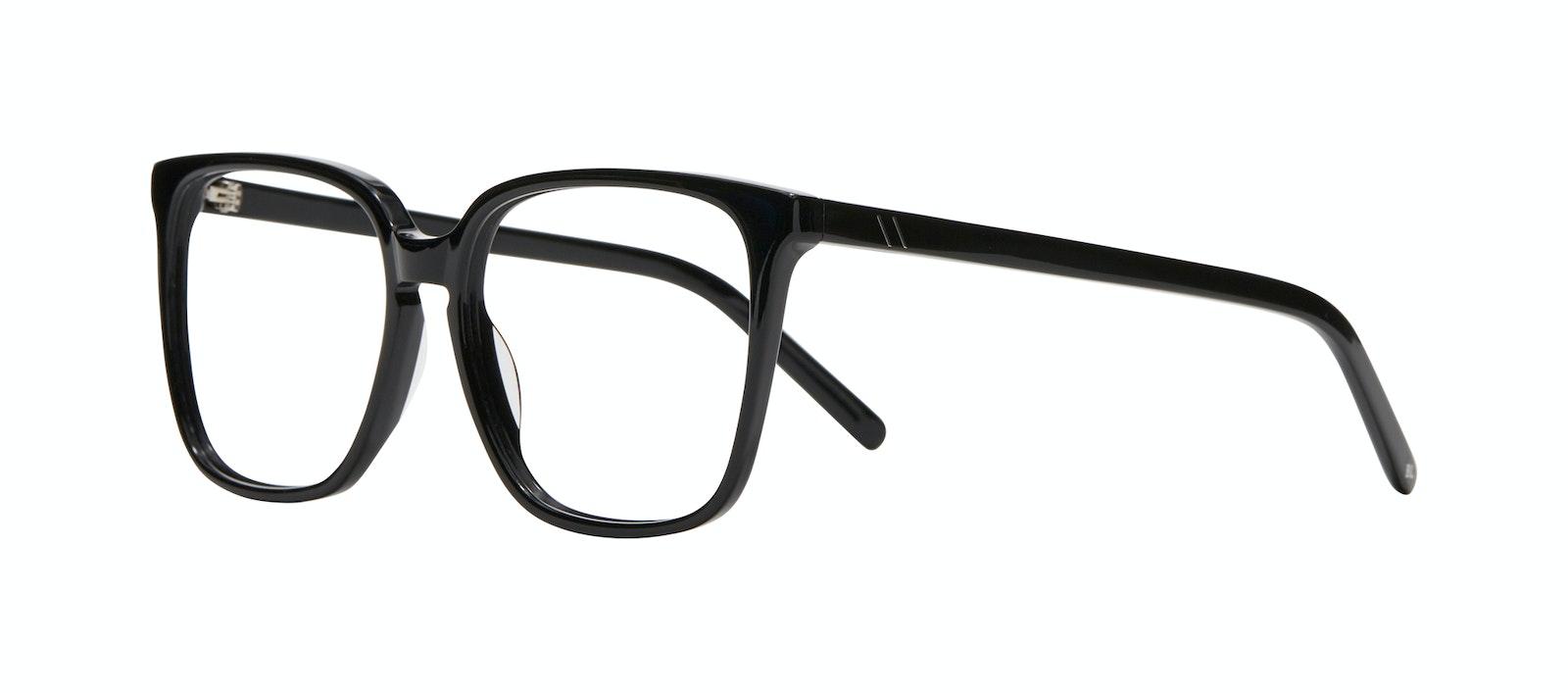 Affordable Fashion Glasses Square Eyeglasses Women Runway Black Tilt