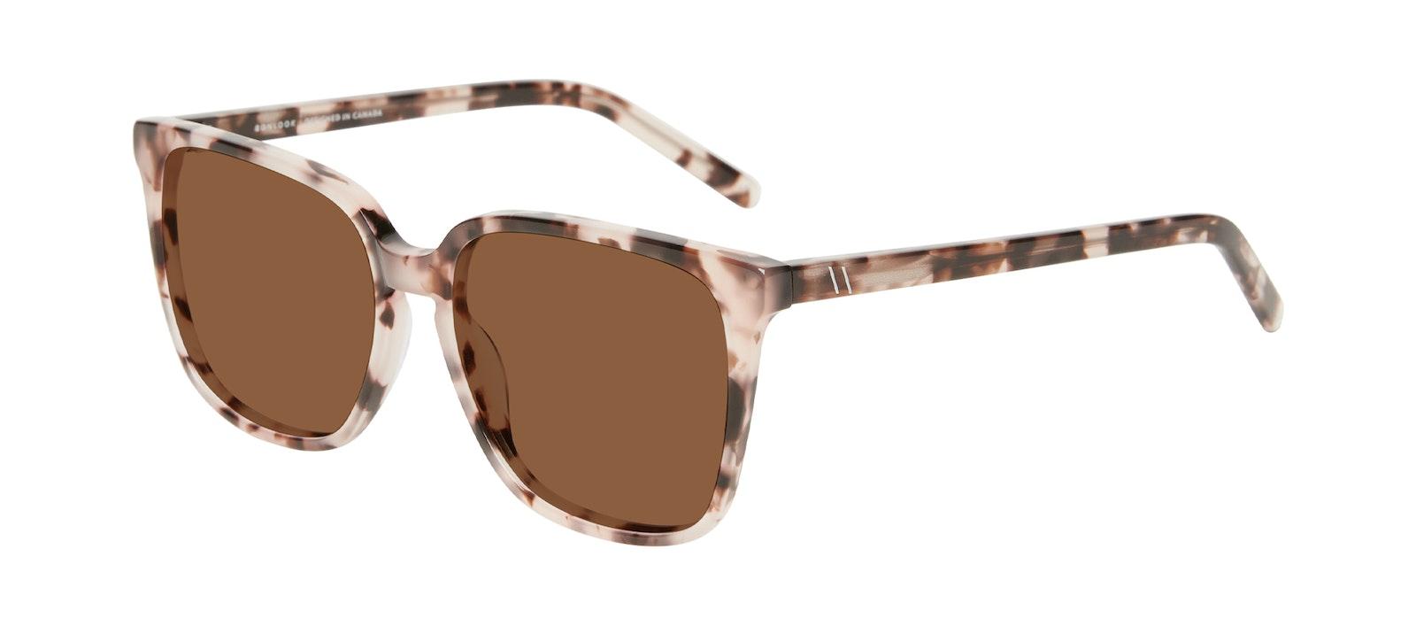 Affordable Fashion Glasses Square Sunglasses Women Runway L Marbled Pink Tilt
