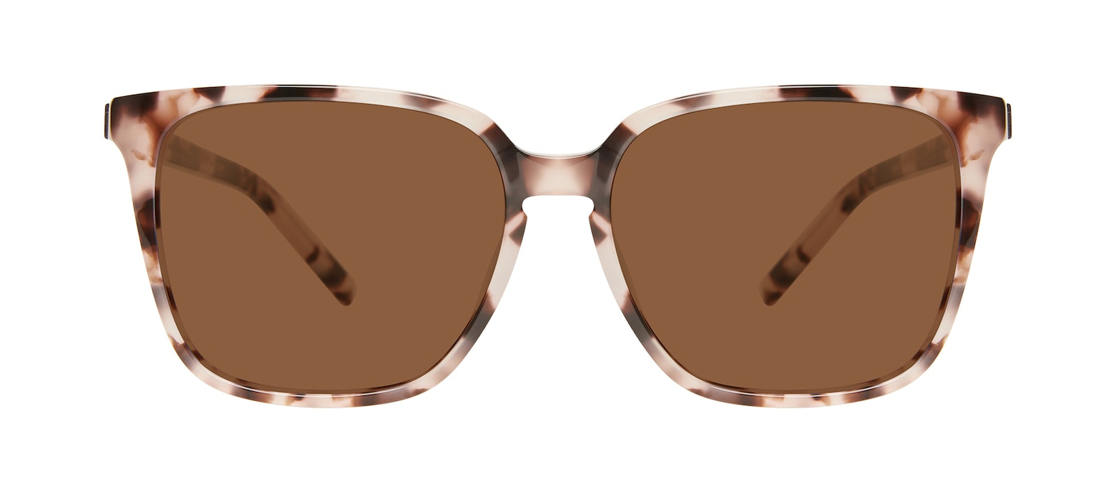 Affordable Fashion Glasses Square Sunglasses Women Runway L Marbled Pink Front