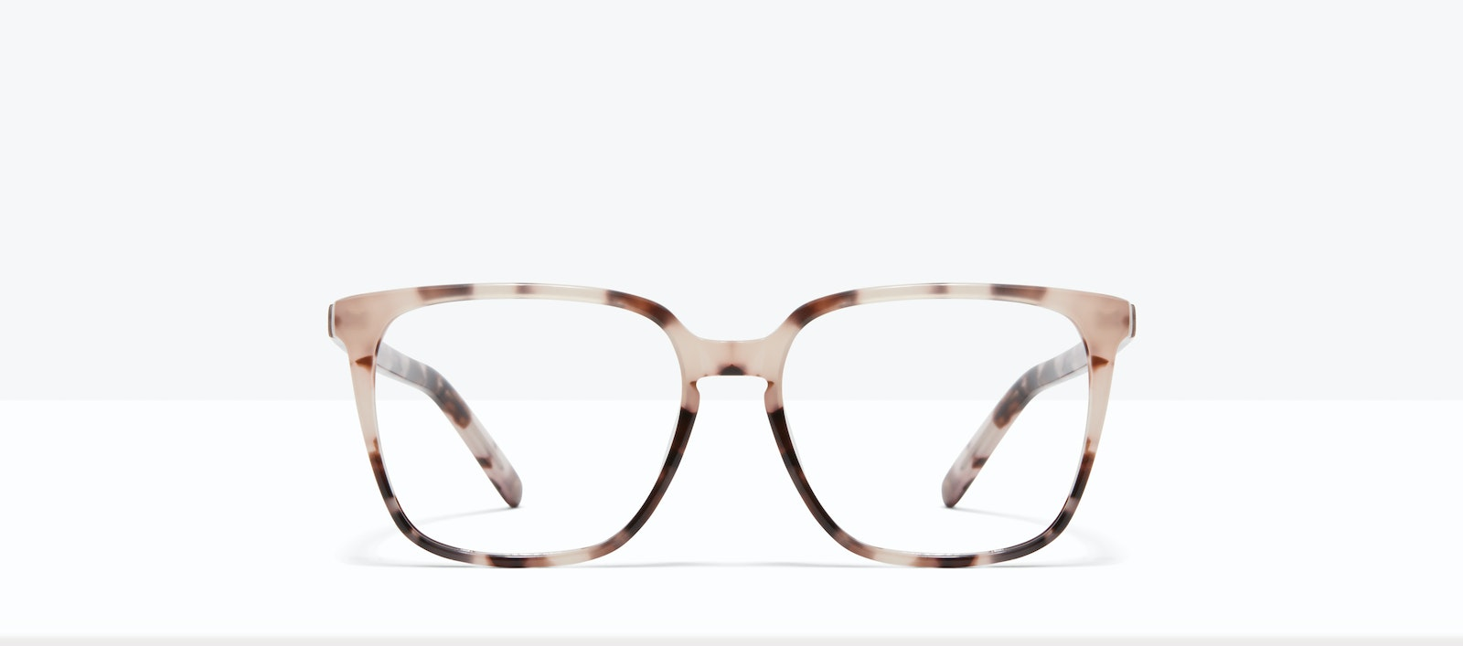 Affordable Fashion Glasses Square Eyeglasses Women Runway S Marbled Pink Front