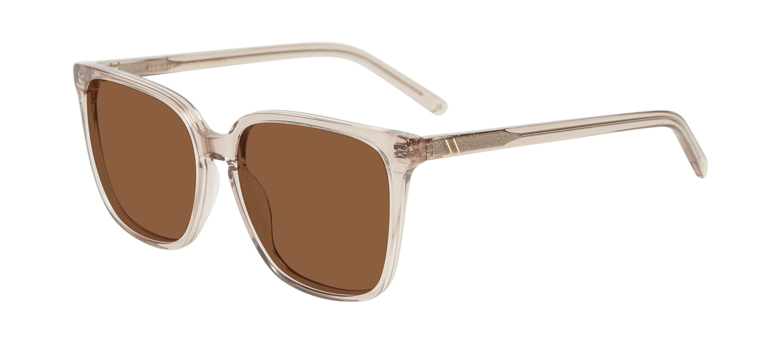 Affordable Fashion Glasses Square Sunglasses Women Runway Sand Tilt