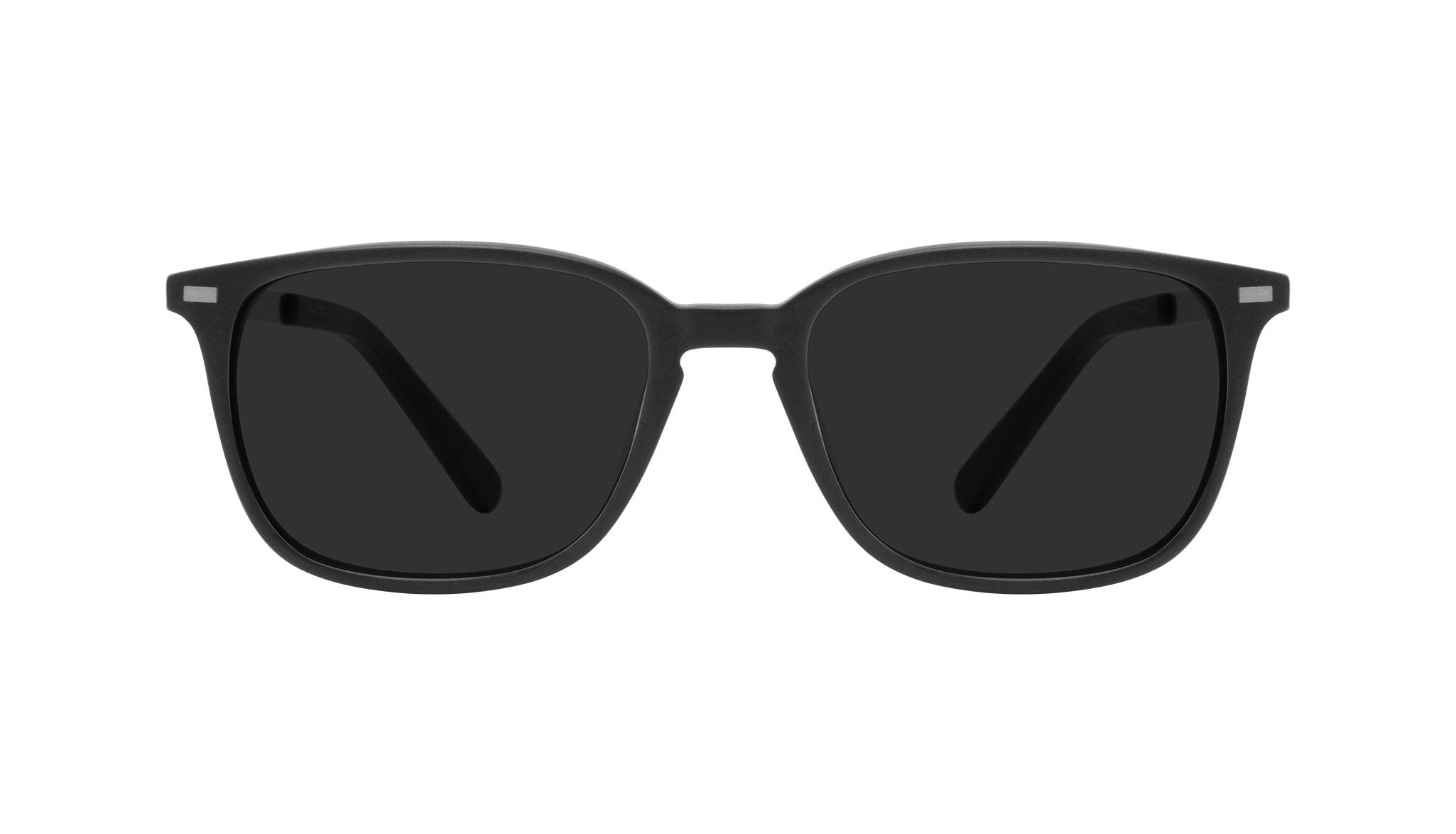 Affordable Fashion Glasses Rectangle Sunglasses Men Sharp Matte Black Front