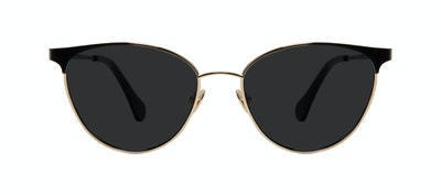 Affordable Fashion Glasses Cat Eye Sunglasses Women Edgy Deep Gold Front