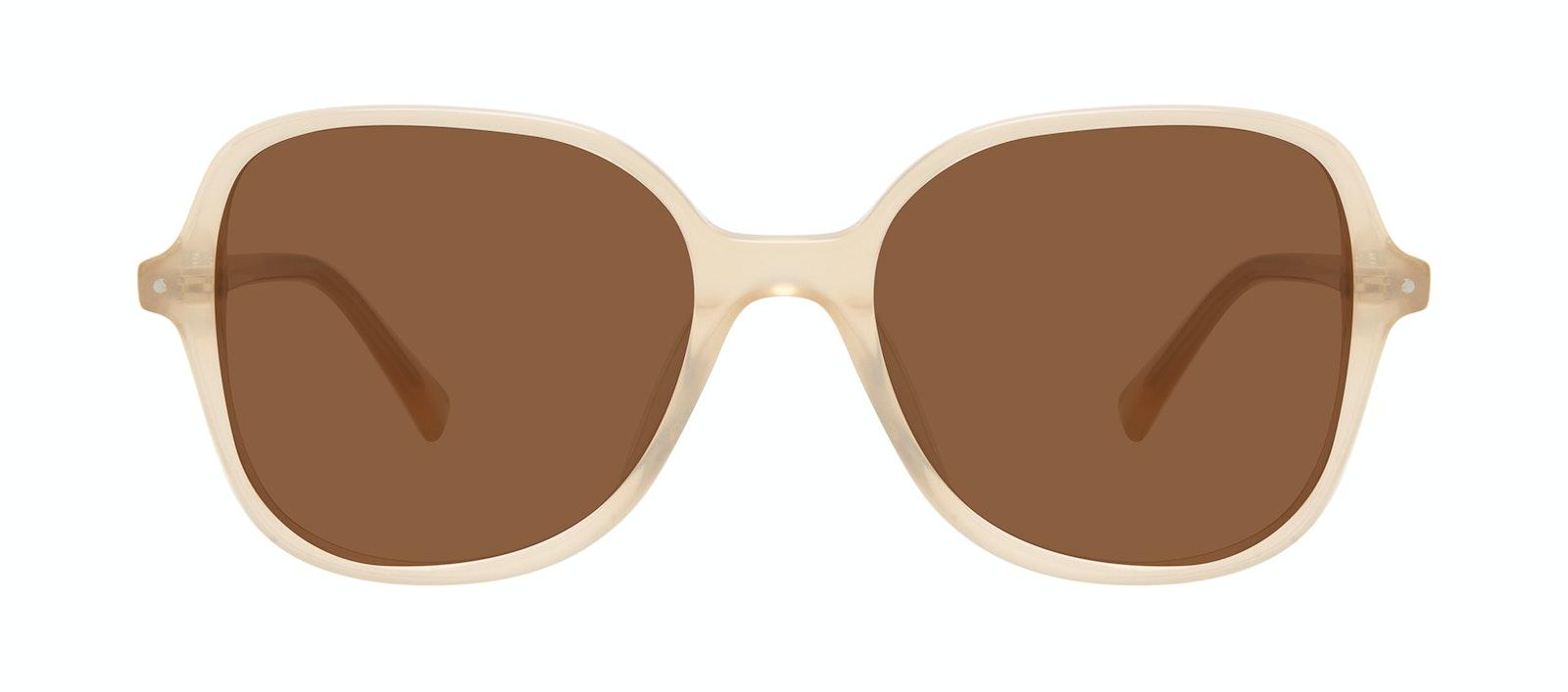 Affordable Fashion Glasses Square Sunglasses Women Scene Peach Front