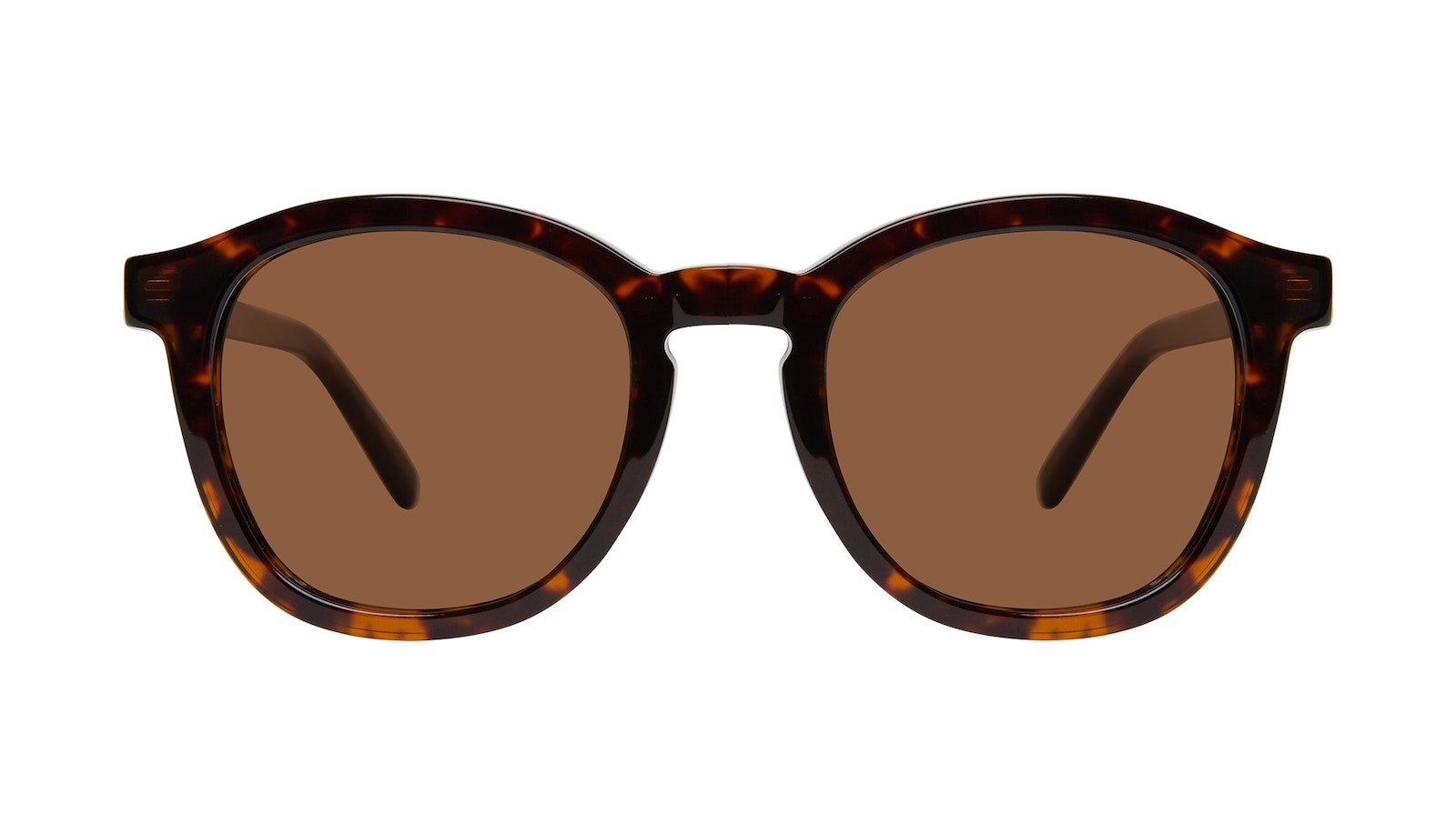 Affordable Fashion Glasses Round Sunglasses Men Script Brindle