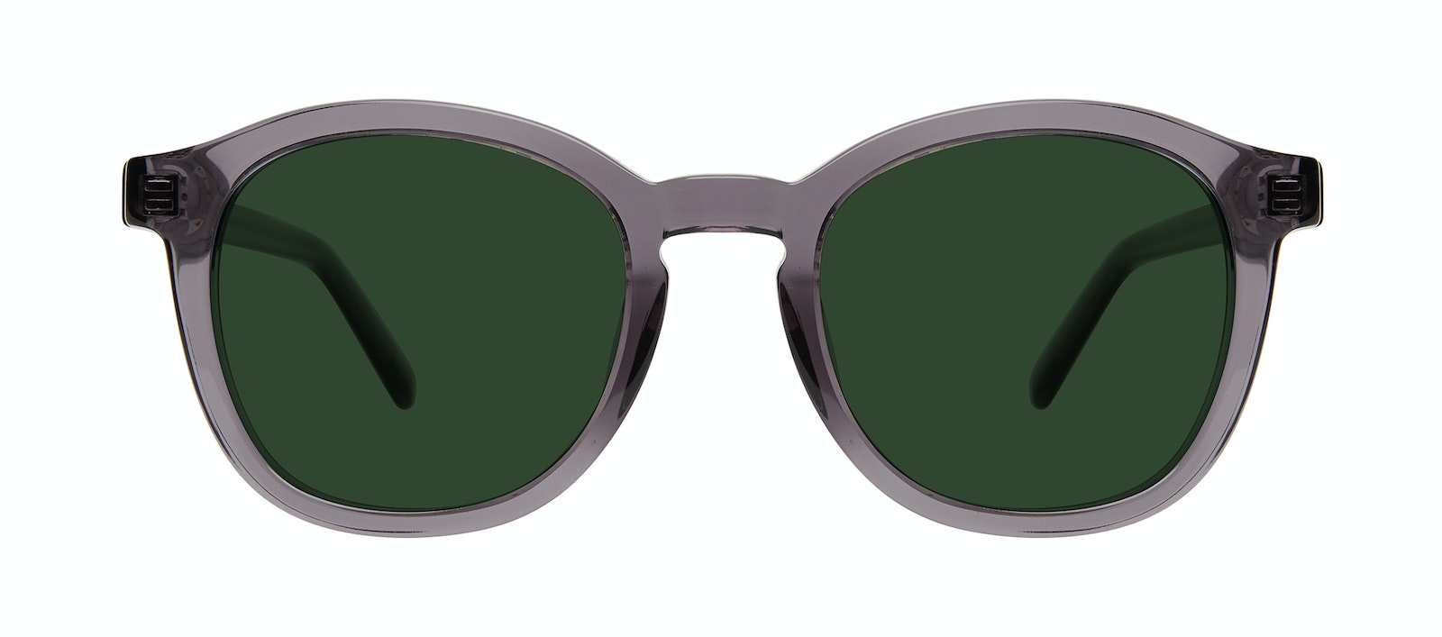 Affordable Fashion Glasses Round Sunglasses Men Script Grey Front