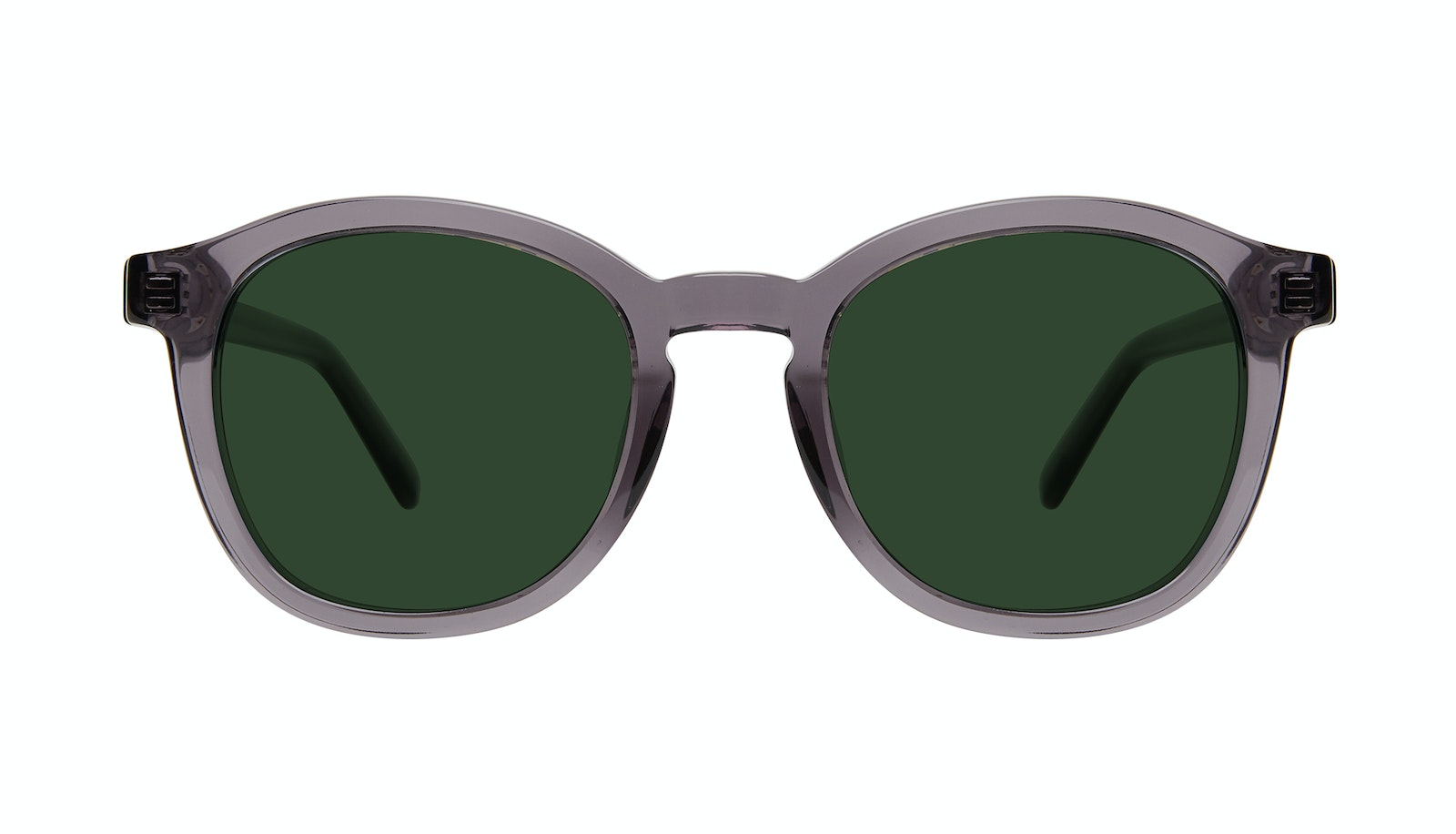 Affordable Fashion Glasses Round Sunglasses Men Script Grey