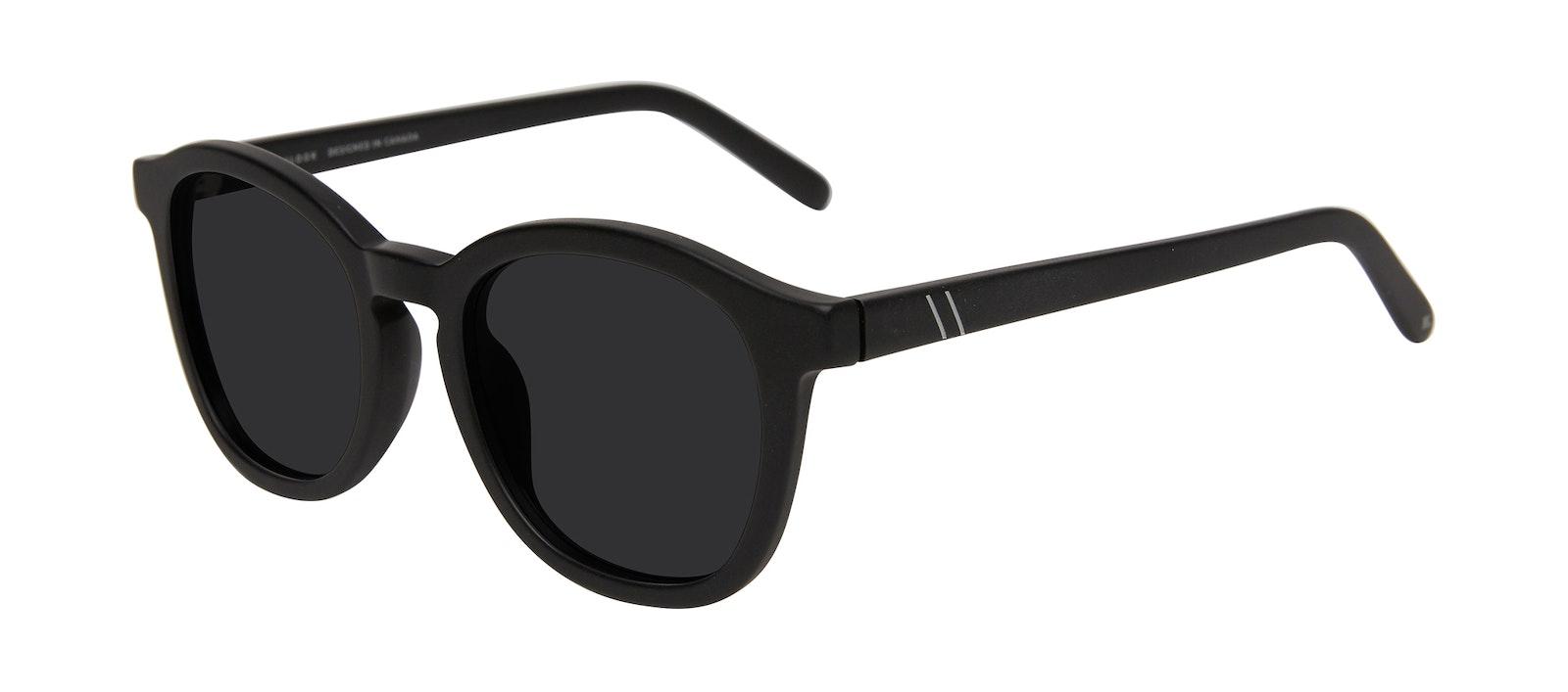 Affordable Fashion Glasses Round Sunglasses Men Script Matte Black Tilt