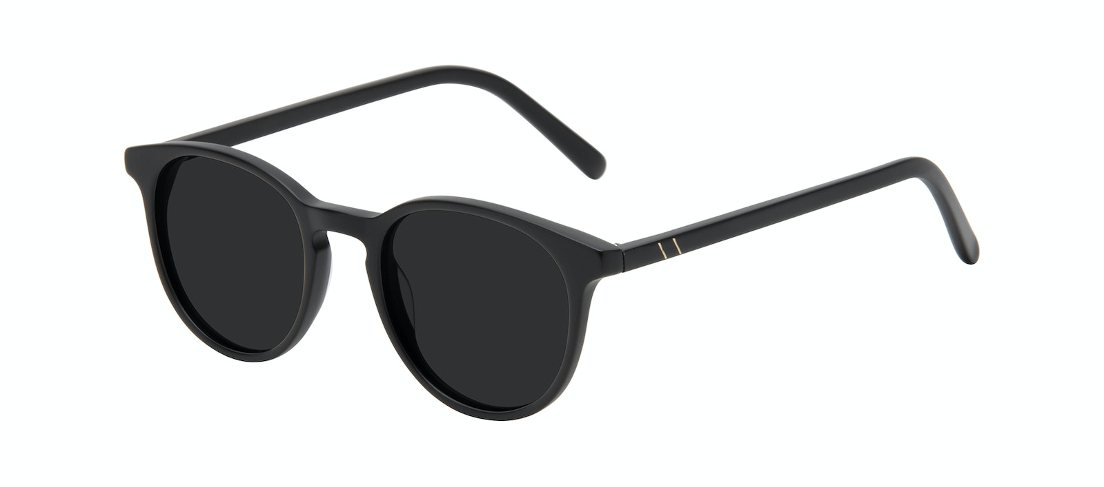 Affordable Fashion Glasses Round Sunglasses Men Select Black Matte Tilt