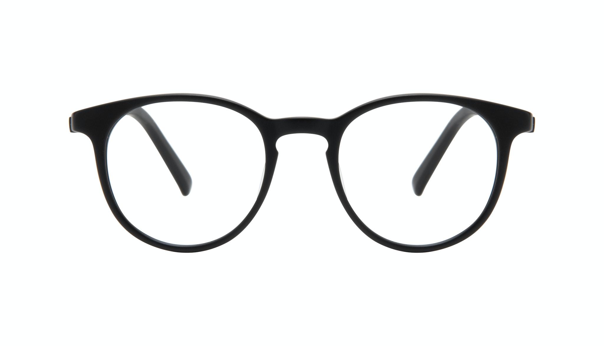 Lunettes tendance Ronde Lunettes de vue Hommes Select Black Matte Face