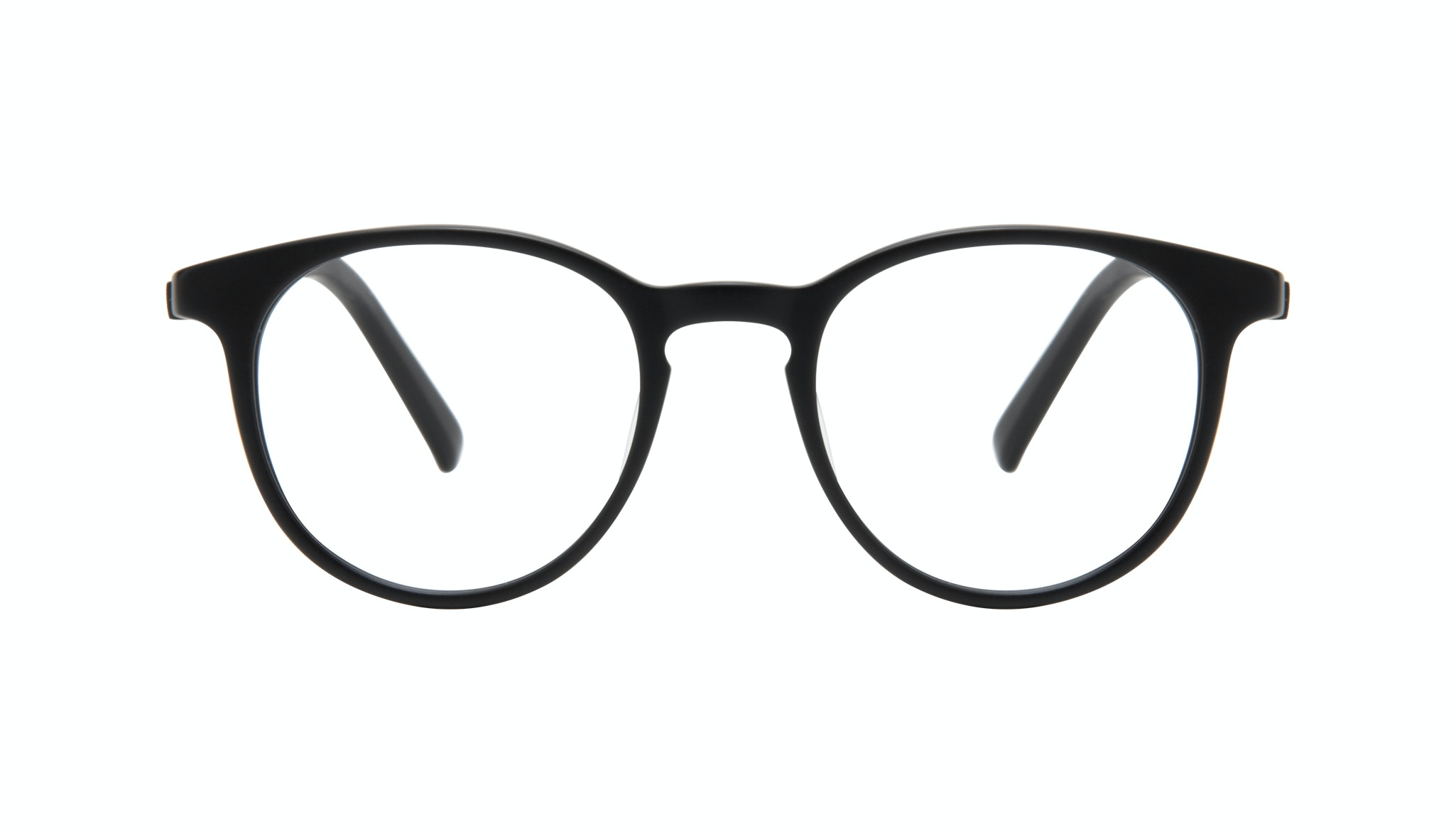 Affordable Fashion Glasses Round Eyeglasses Men Select Black Matte