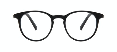 Affordable Fashion Glasses Round Eyeglasses Men Select Black Matte Front