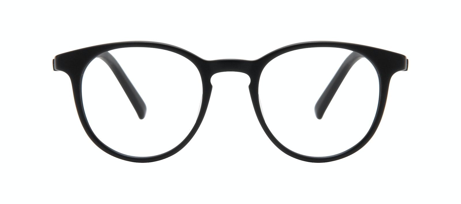 Affordable Fashion Glasses Round Eyeglasses Men Select Black Matte Front