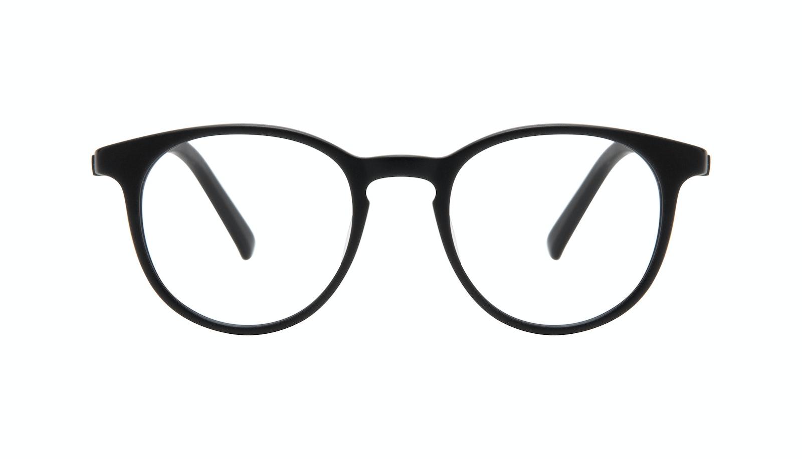 Lunettes tendance Ronde Lunettes de vue Hommes Select Black Matte