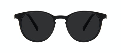Affordable Fashion Glasses Round Sunglasses Men Select Black Matte Front