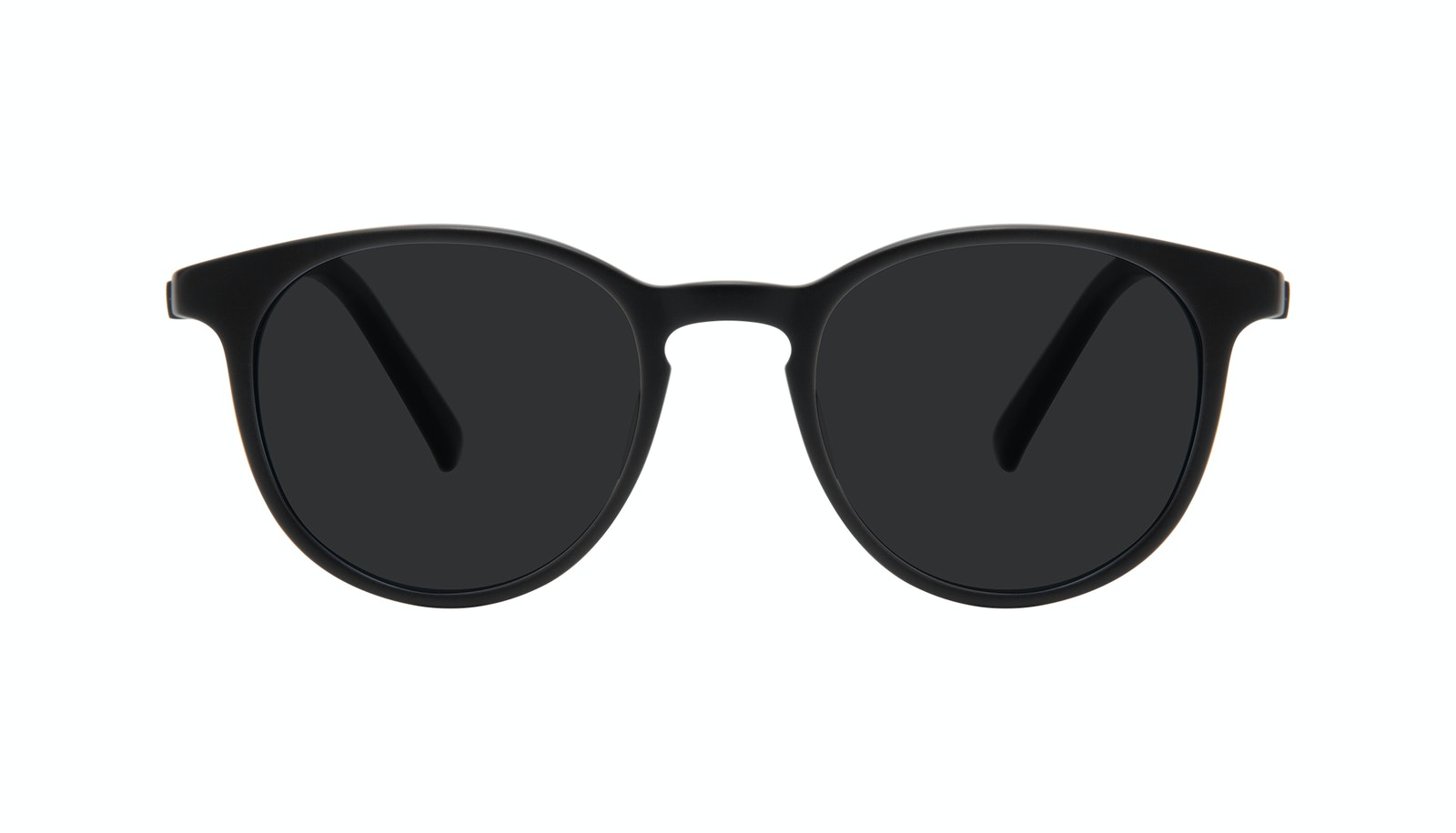 Affordable Fashion Glasses Round Sunglasses Men Select Black Matte