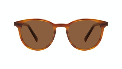 Affordable Fashion Glasses Round Sunglasses Men Select Havana Front