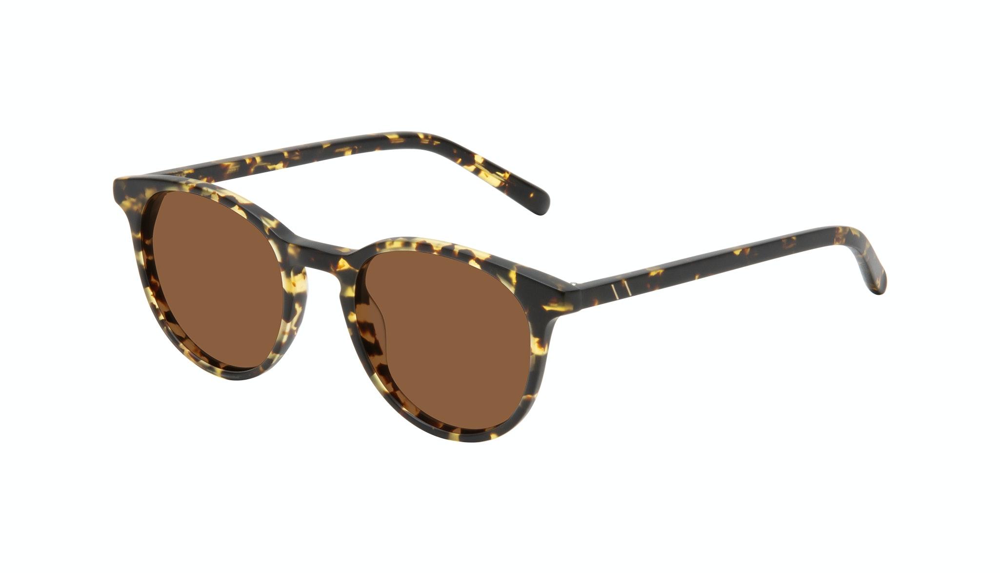 Affordable Fashion Glasses Round Sunglasses Men Select Tortoise Matte Tilt