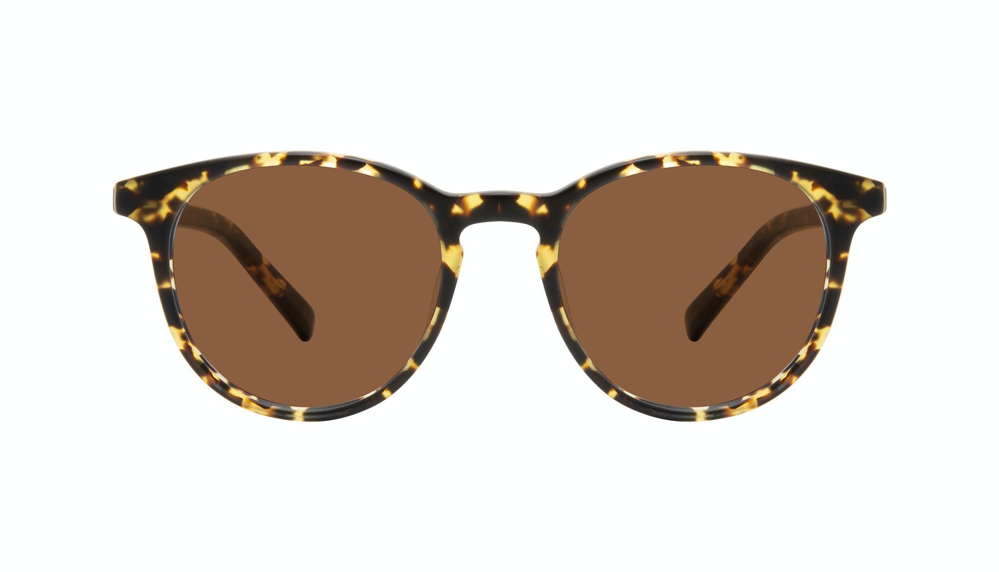 Affordable Fashion Glasses Round Sunglasses Men Select Tortoise Matte Front