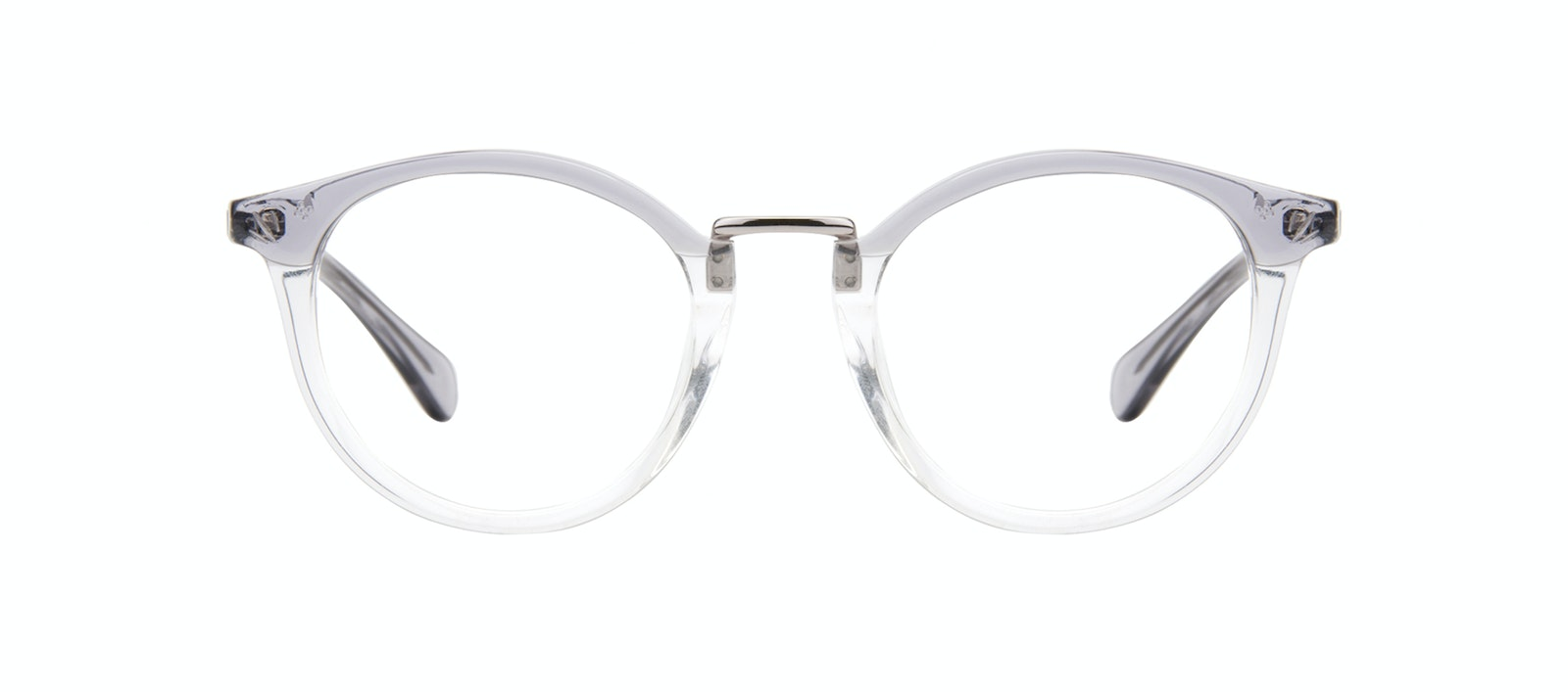 Affordable Fashion Glasses Round Eyeglasses Women Self Grey Front