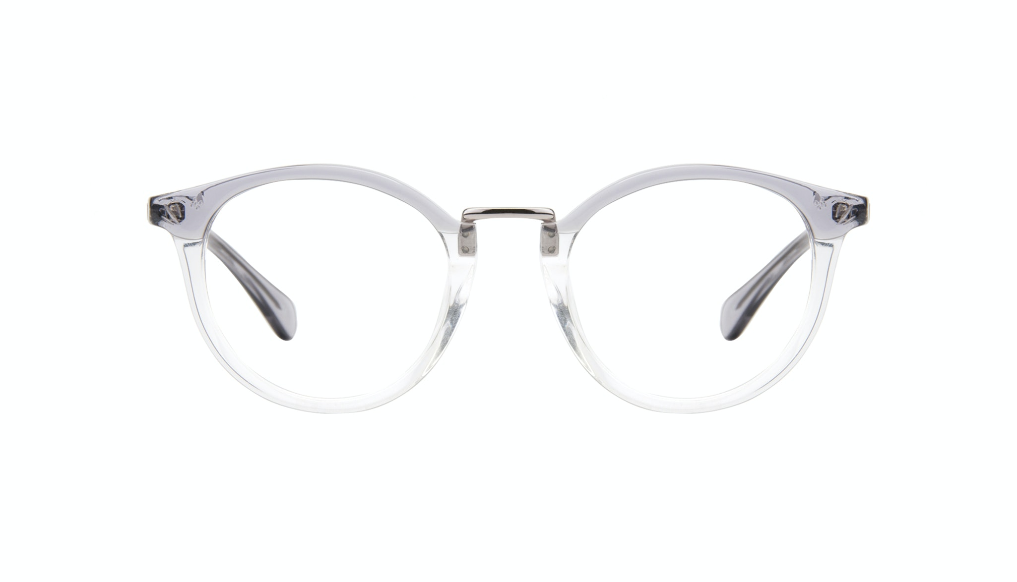 Affordable Fashion Glasses Round Eyeglasses Women Self Grey