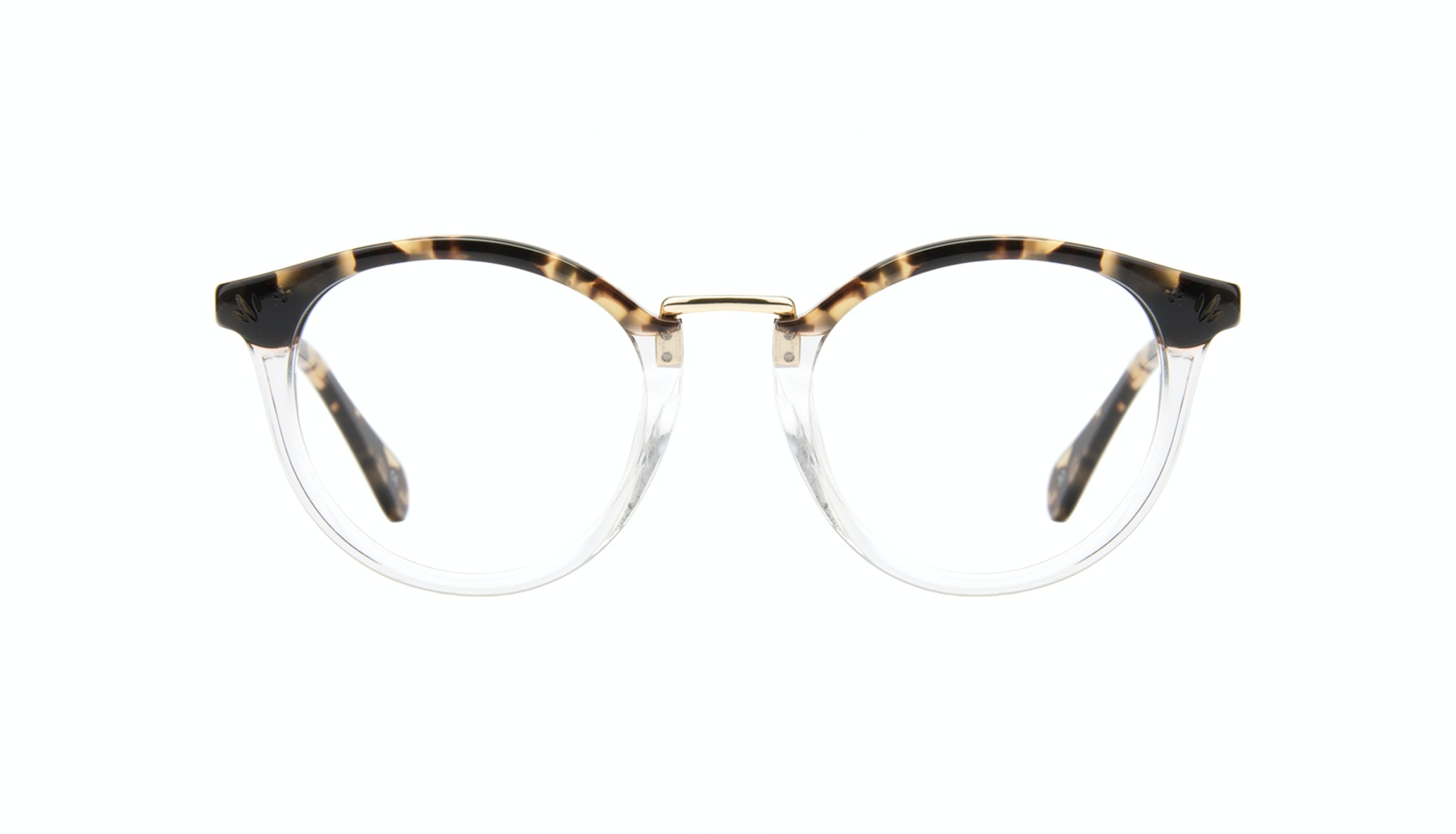 Affordable Fashion Glasses Round Eyeglasses Women Self Tortoise