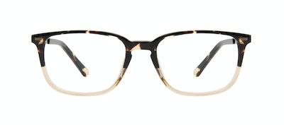 Affordable Fashion Glasses Rectangle Eyeglasses Men Sharp Golden Tortoise Front