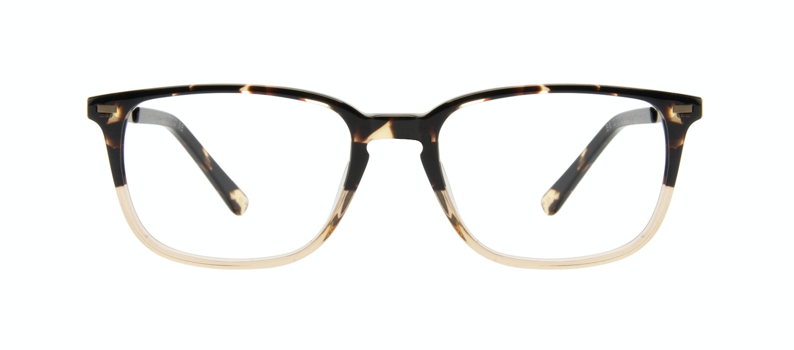 Affordable Fashion Glasses Rectangle Eyeglasses Men Sharp Golden Tortoise Front