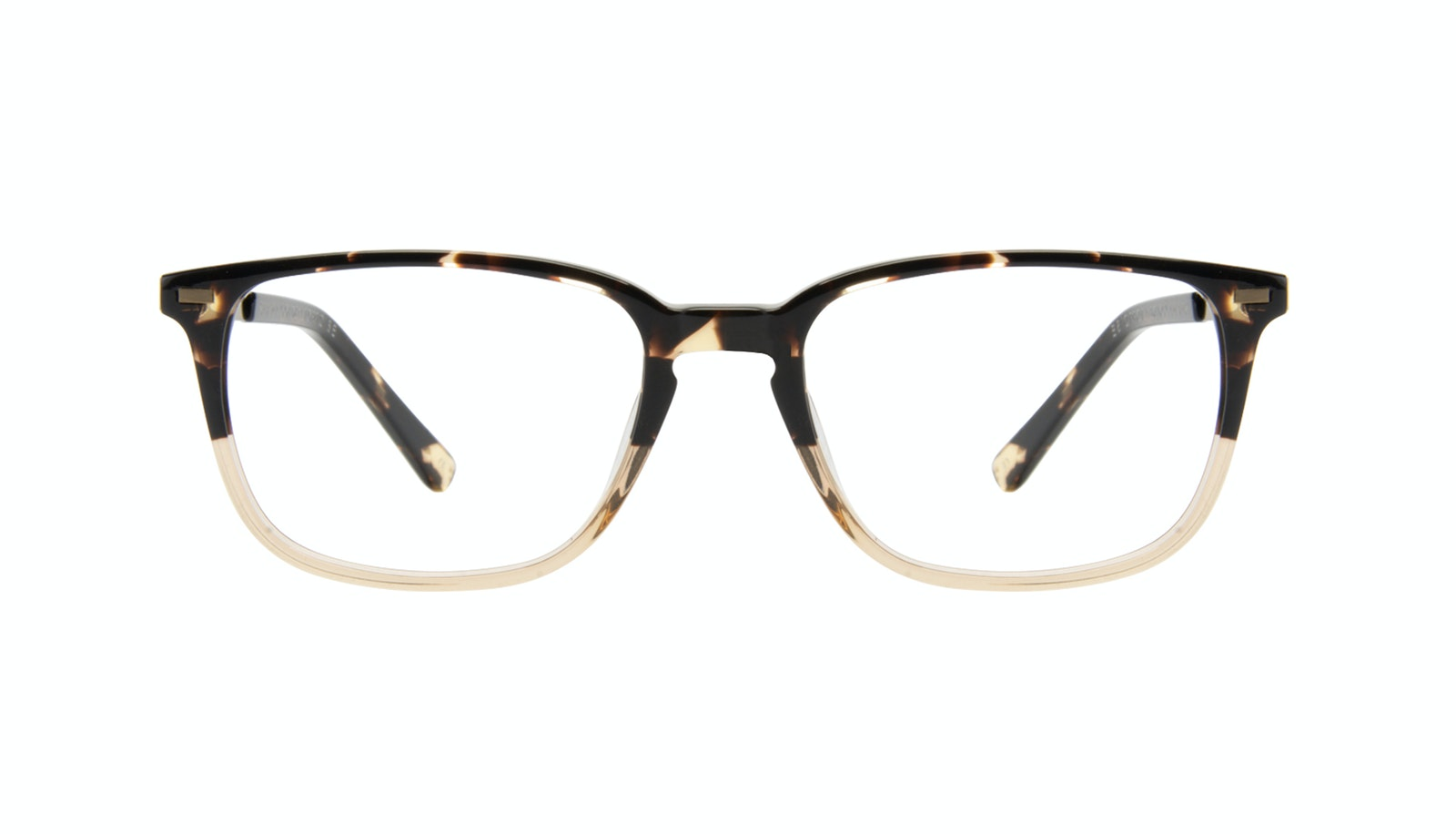 Affordable Fashion Glasses Rectangle Eyeglasses Men Sharp Golden Tortoise