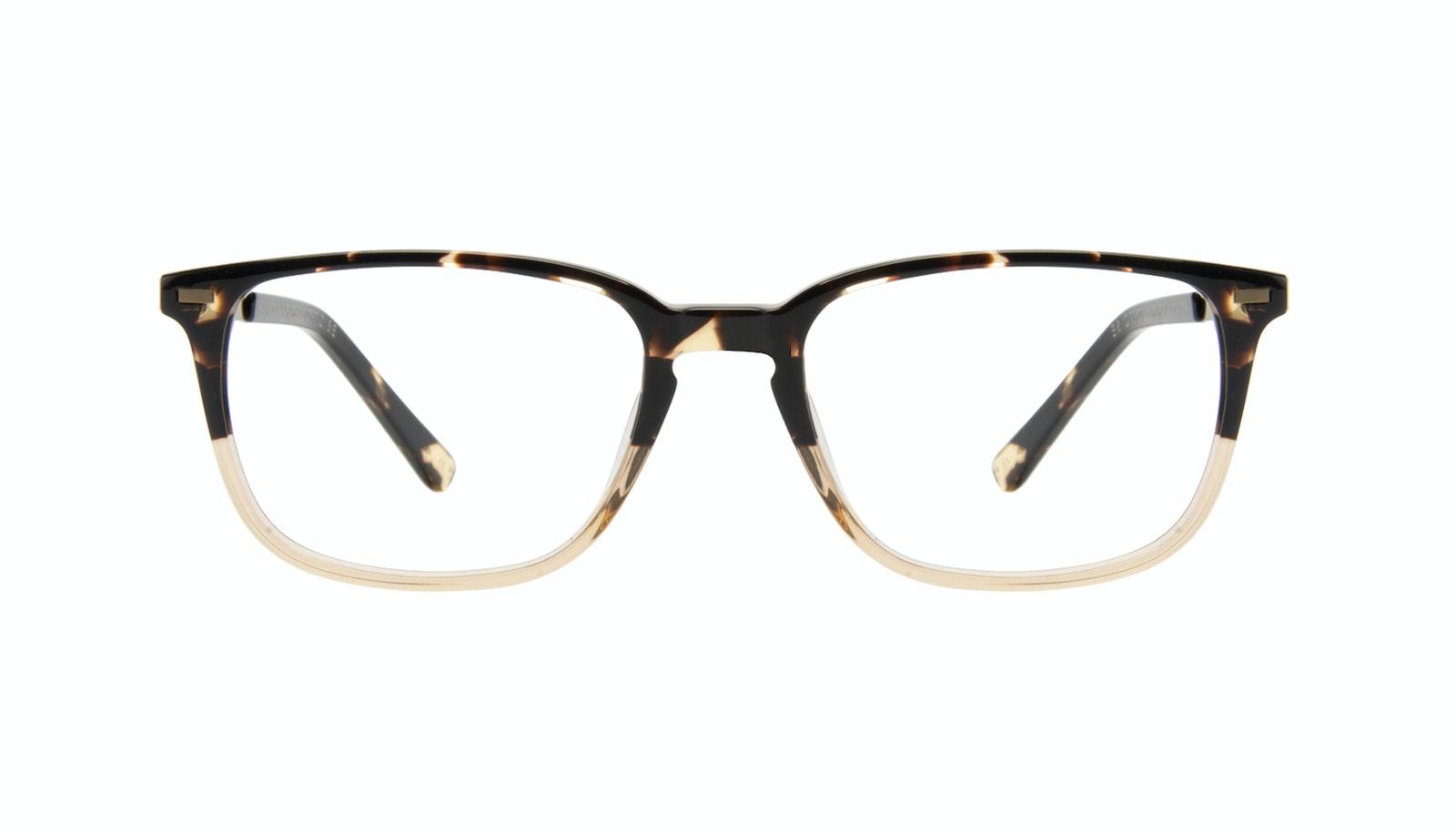 Lunettes tendance Rectangle Lunettes de vue Hommes Sharp Golden Tortoise