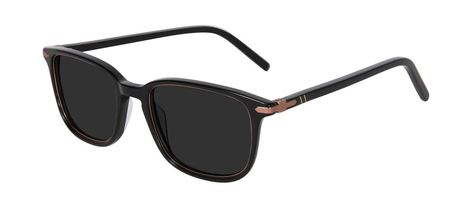 Affordable Fashion Glasses Square Sunglasses Men Sharp Lux Black Copper Tilt