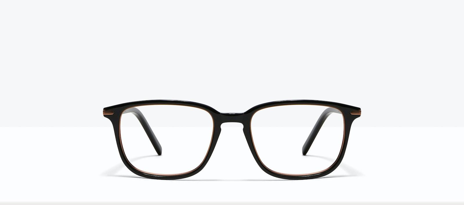 Affordable Fashion Glasses Square Eyeglasses Men Sharp Lux Black Copper Front